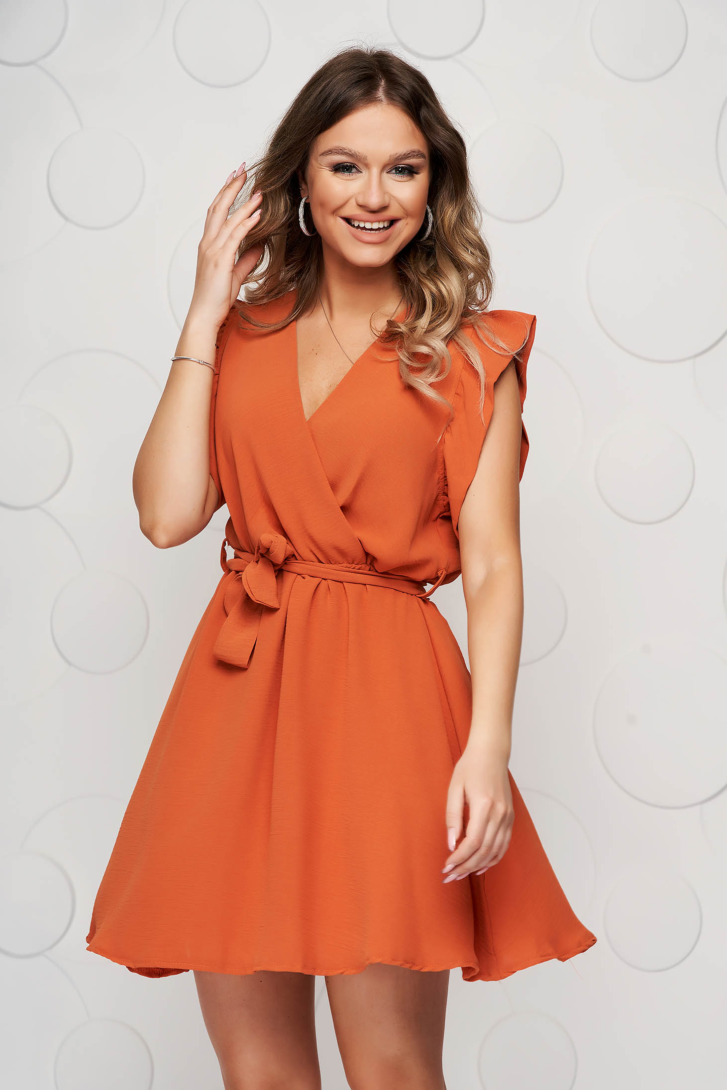 Bricky dress short cut daily elegant sleeveless thin fabric