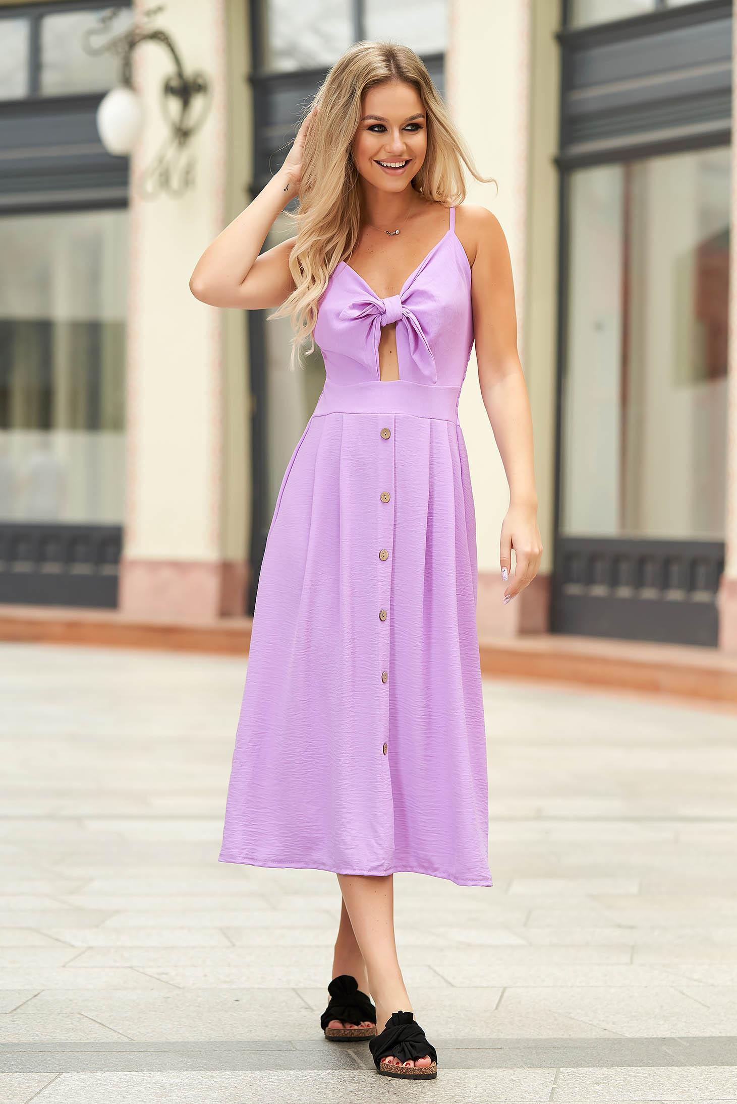 Lila dress midi daily cloche thin fabric cut-out bust design