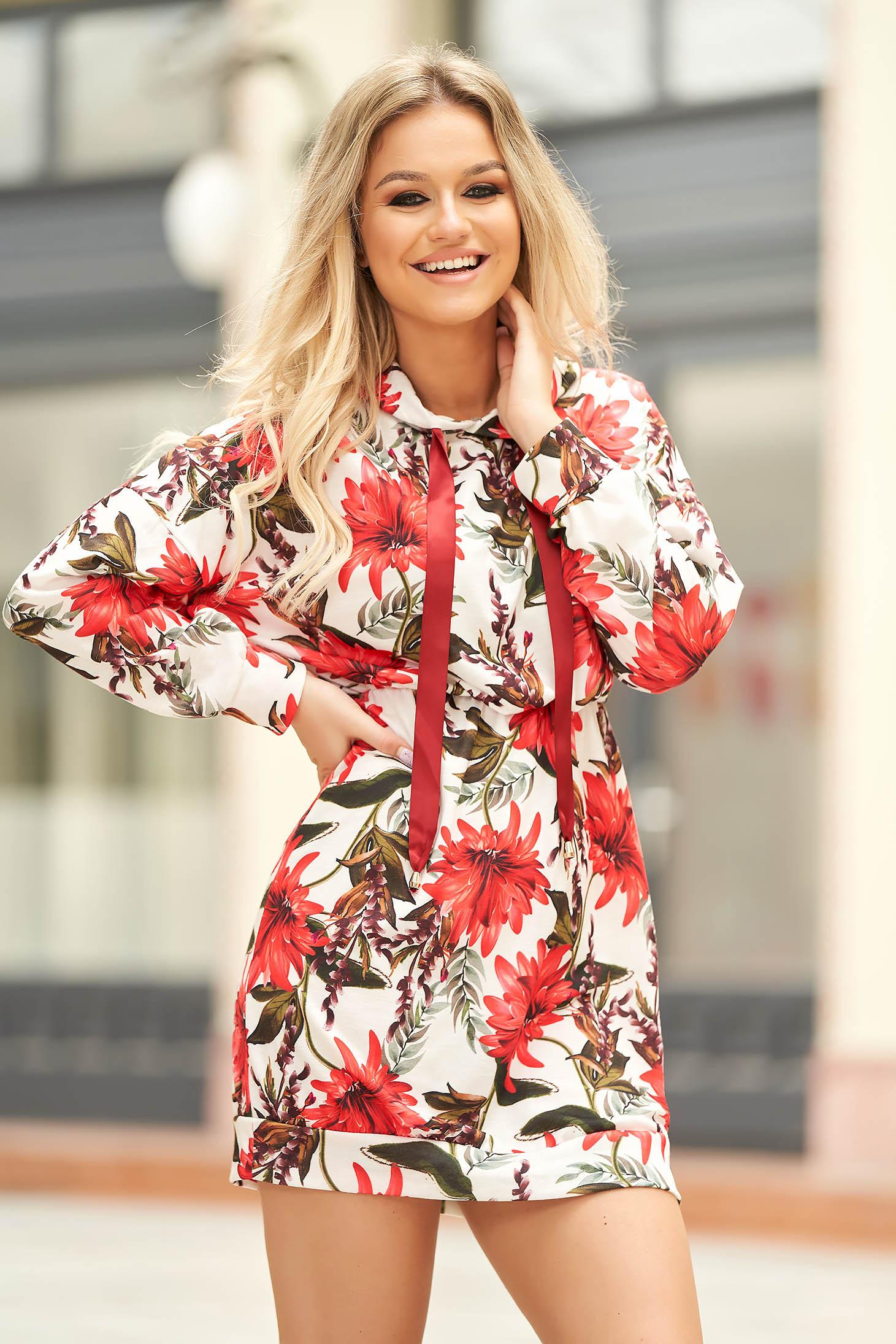 Rochie SunShine rosie casual scurta cu elastic in talie