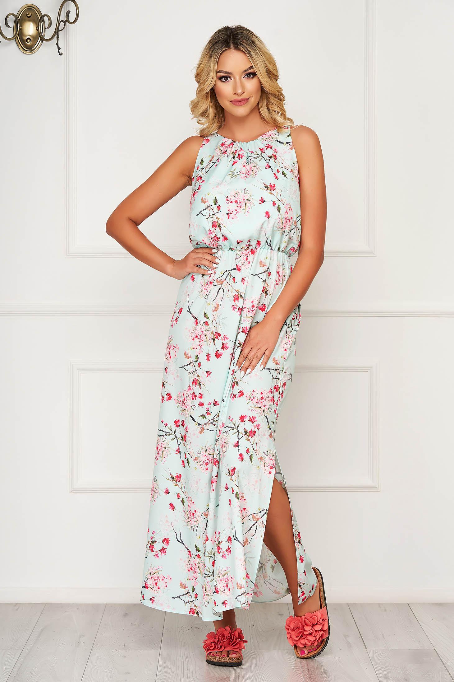 StarShinerS lightgreen dress long daily thin fabric sleeveless