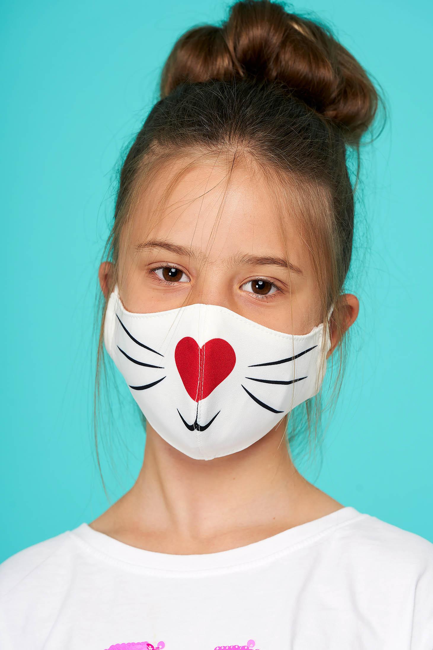 Masca textila pentru copii StarShinerS rosie