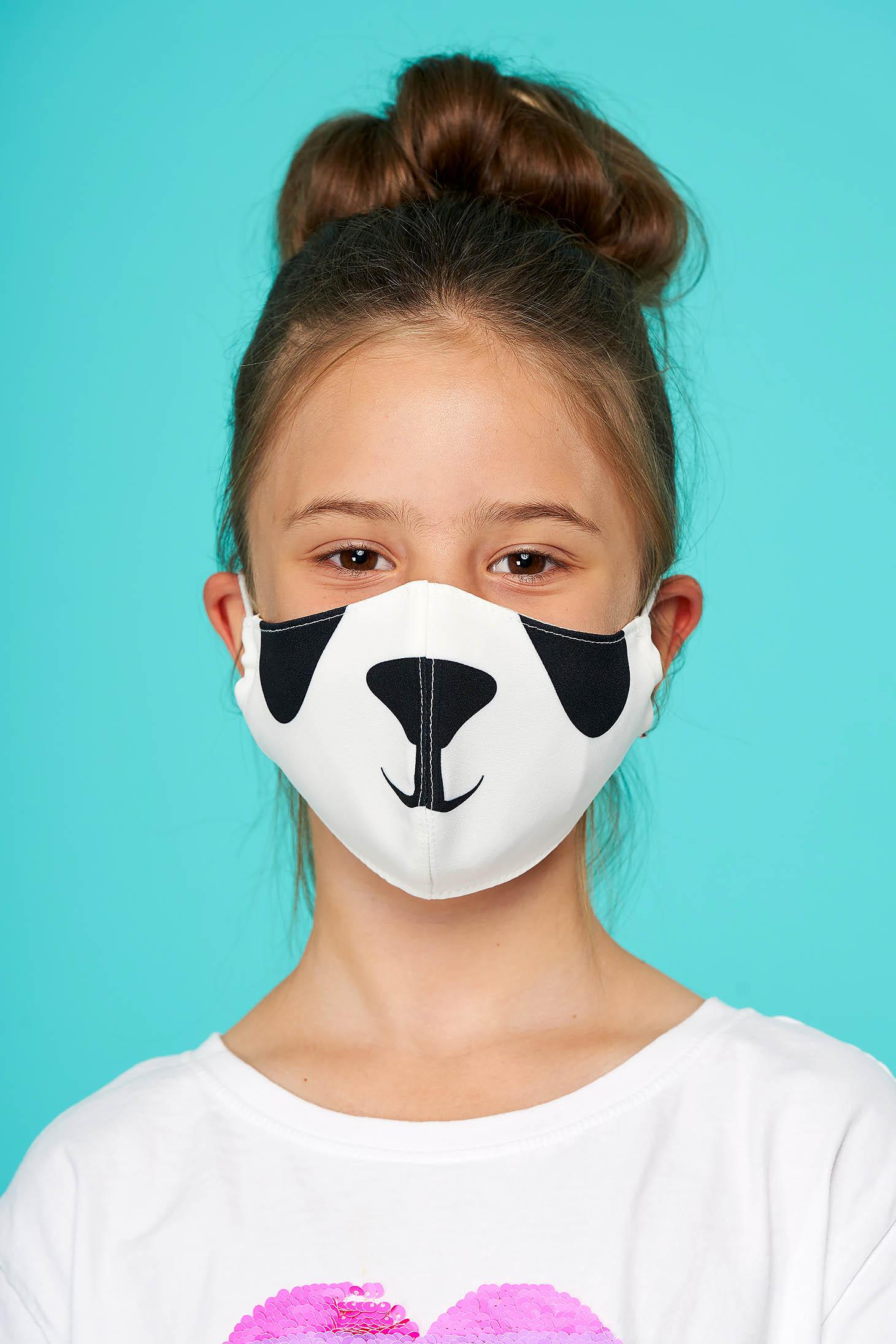 Masca textila pentru copii StarShinerS alba