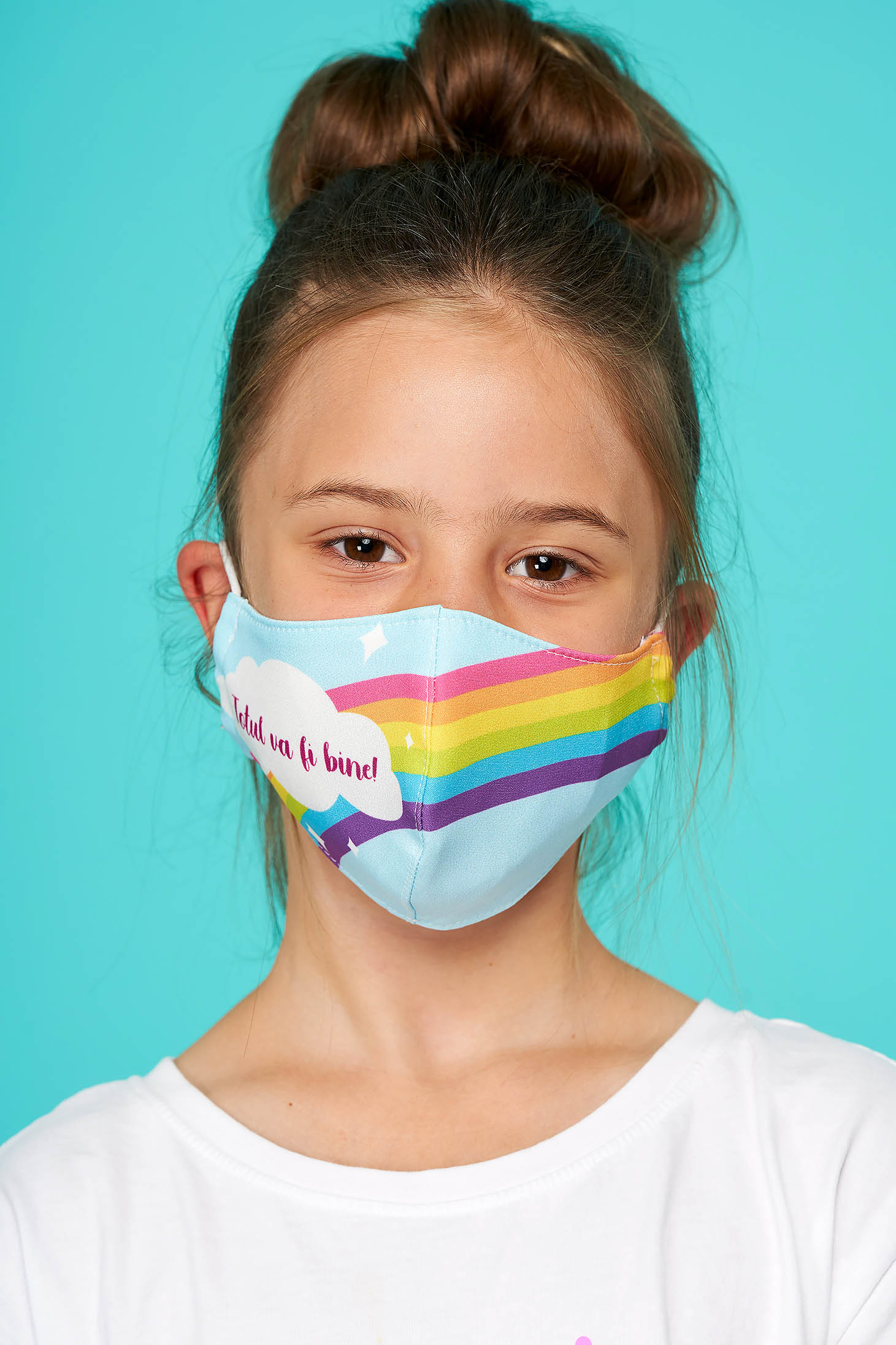 Masca textila pentru copii StarShinerS albastra