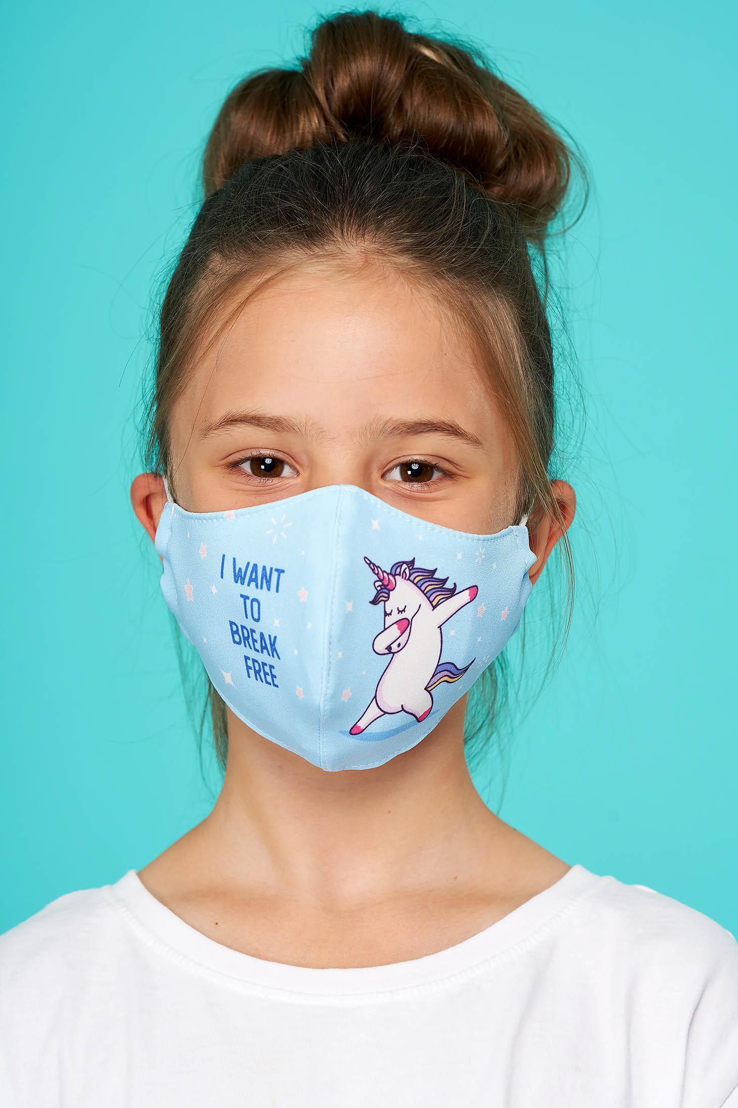Masca textila pentru copii StarShinerS albastru-deschis