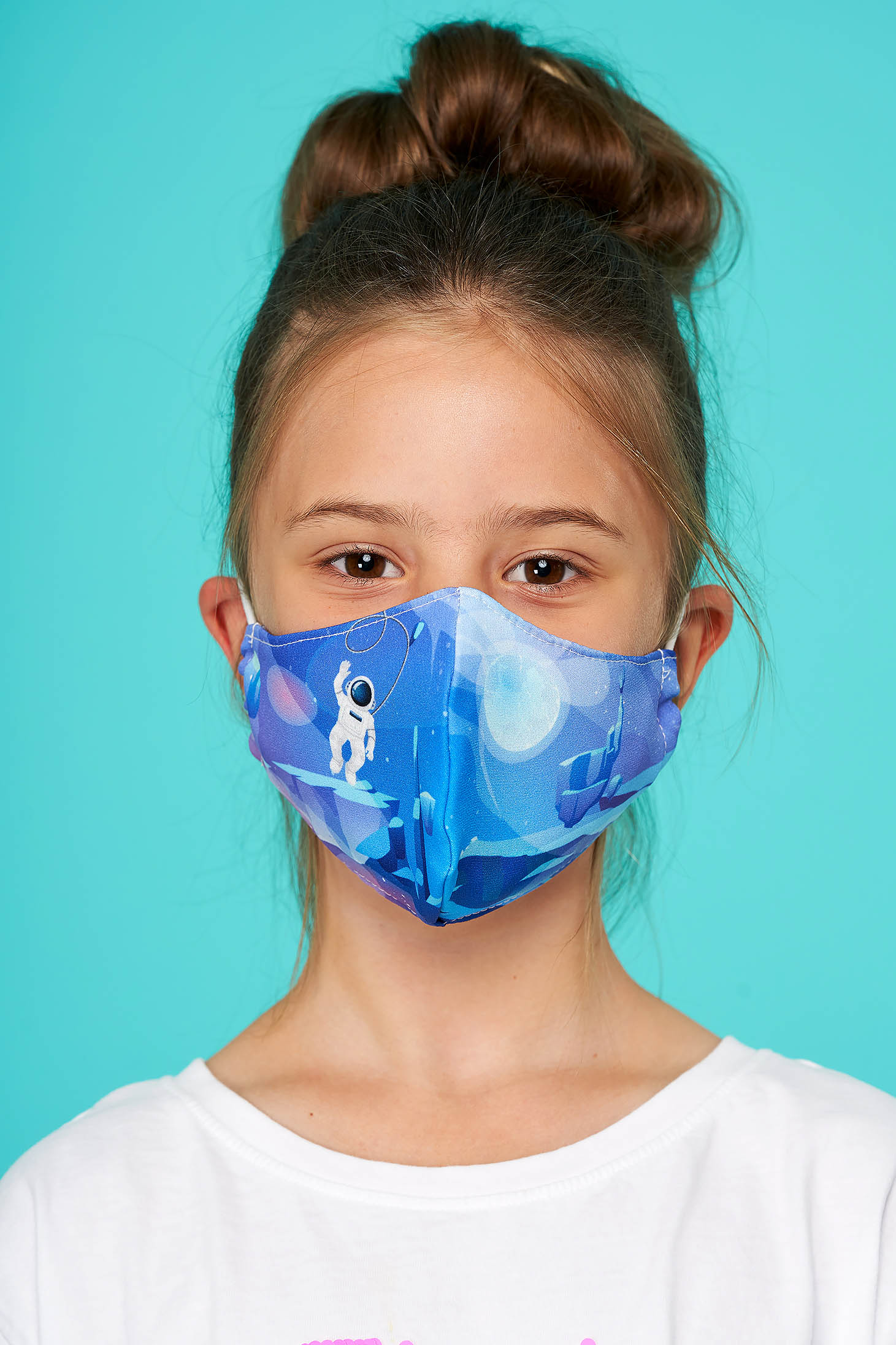 Masca textila pentru copii StarShinerS albastru-inchis