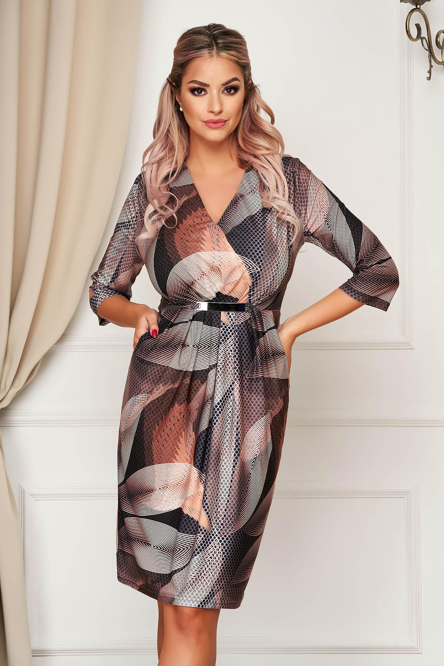 Dress elegant daily midi pencil thin fabric