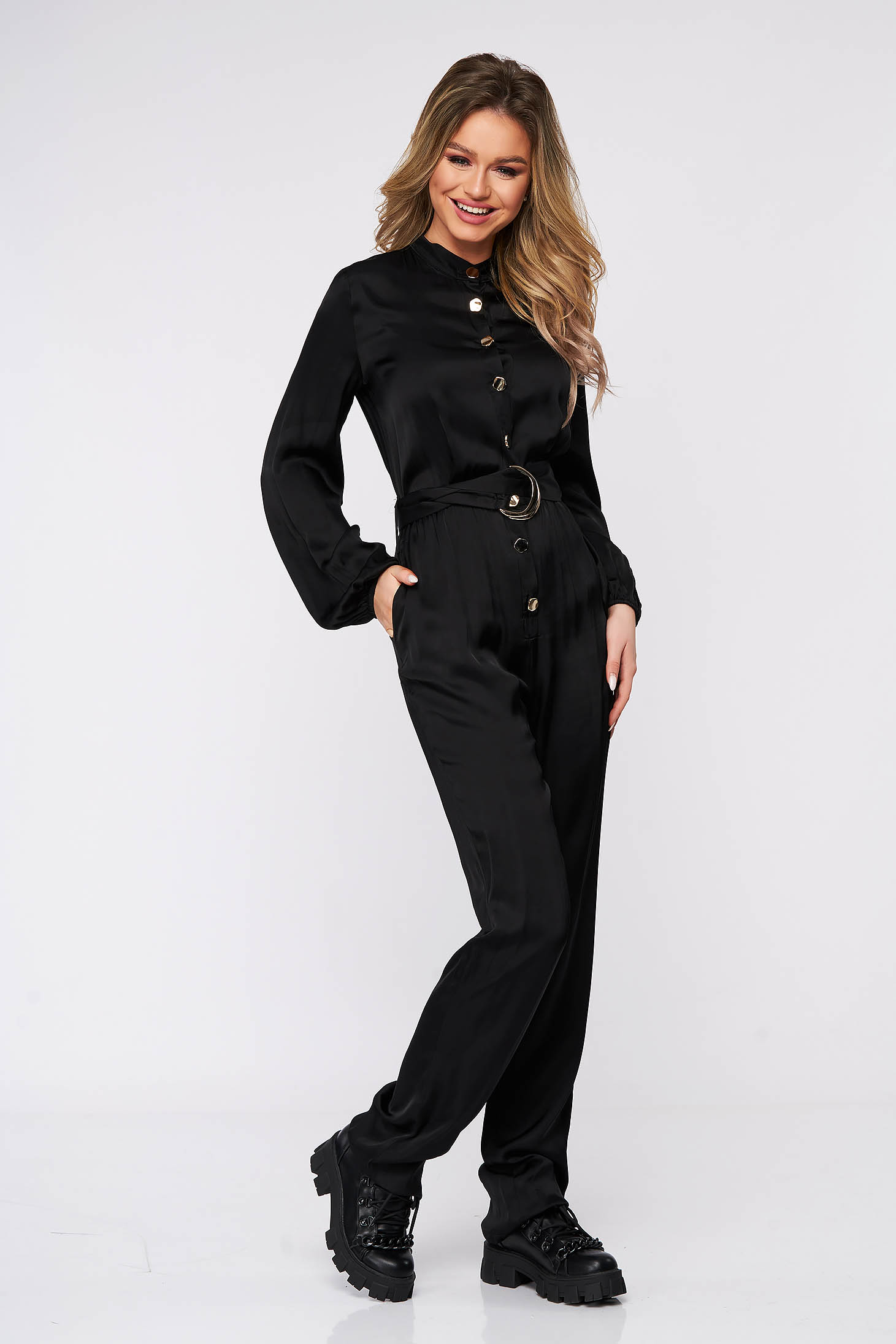 Salopete negre elegante