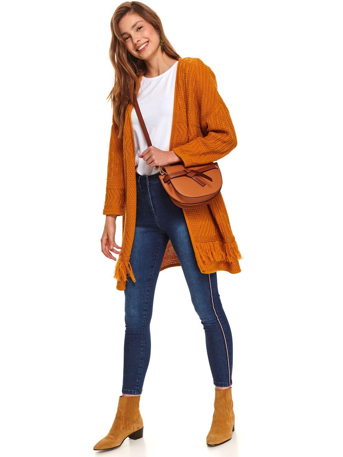 Blue trousers casual skinny jeans medium waist slightly elastic cotton
