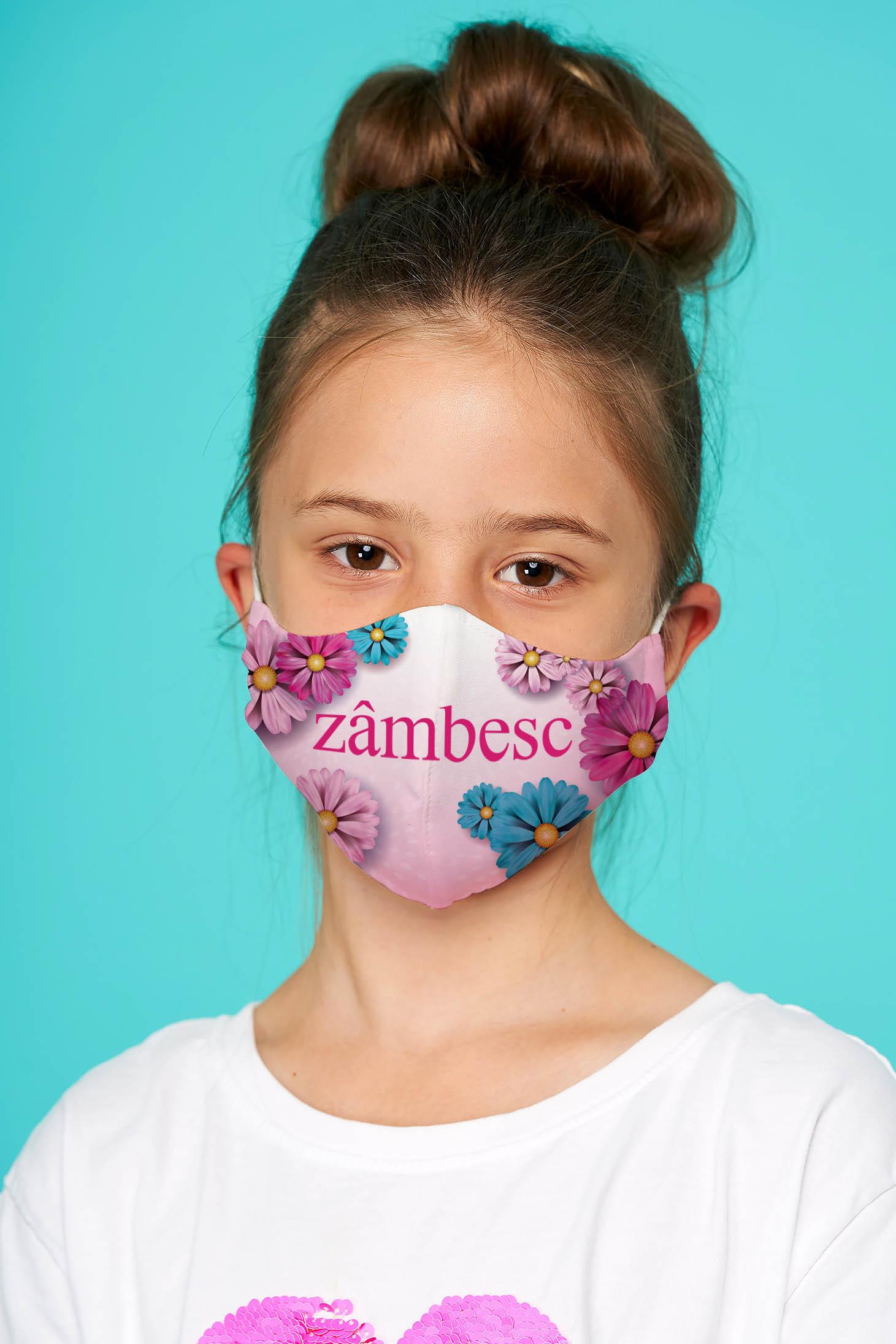 Masca textila pentru copii StarShinerS roz deschis