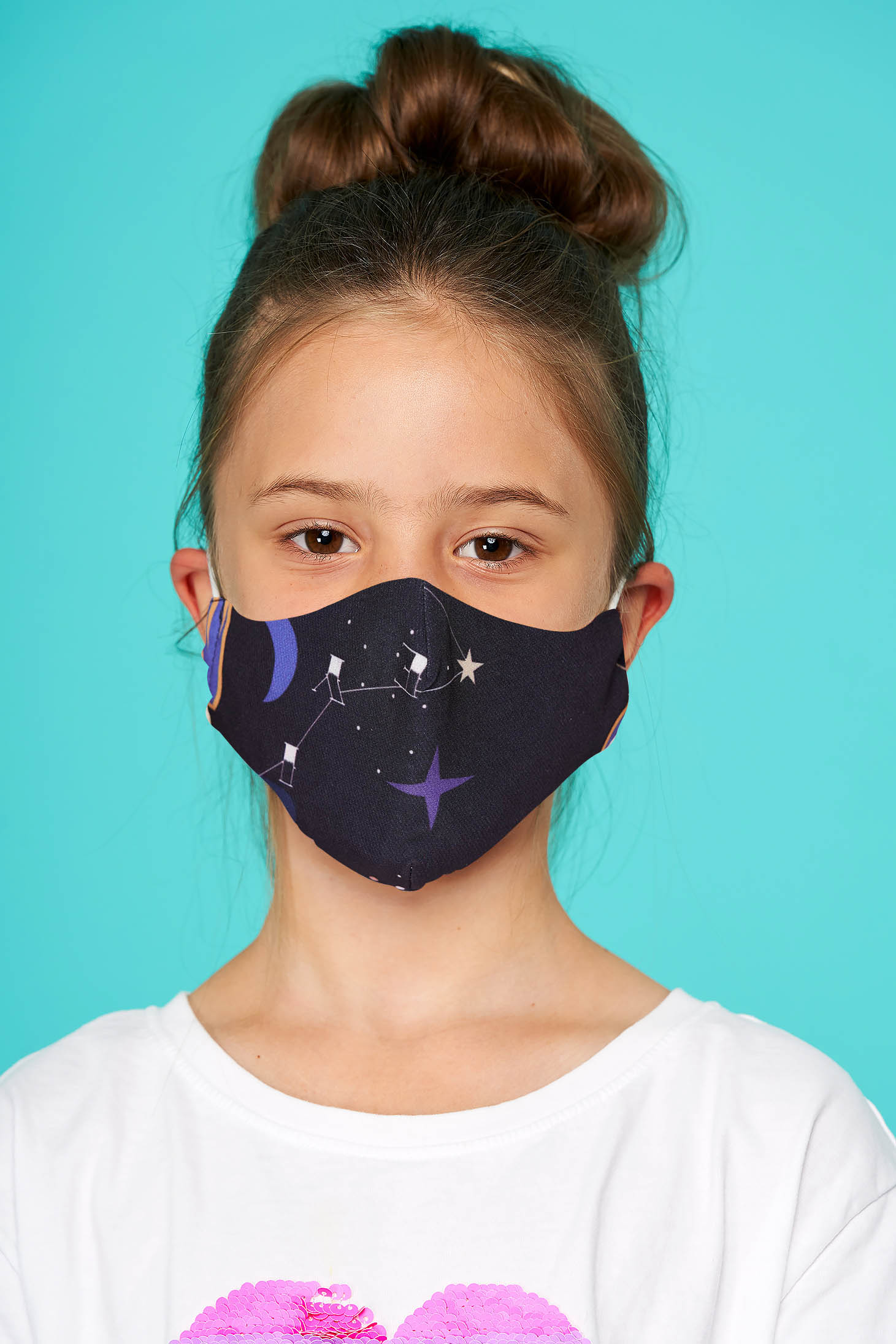 Masca textila pentru copii StarShinerS mov