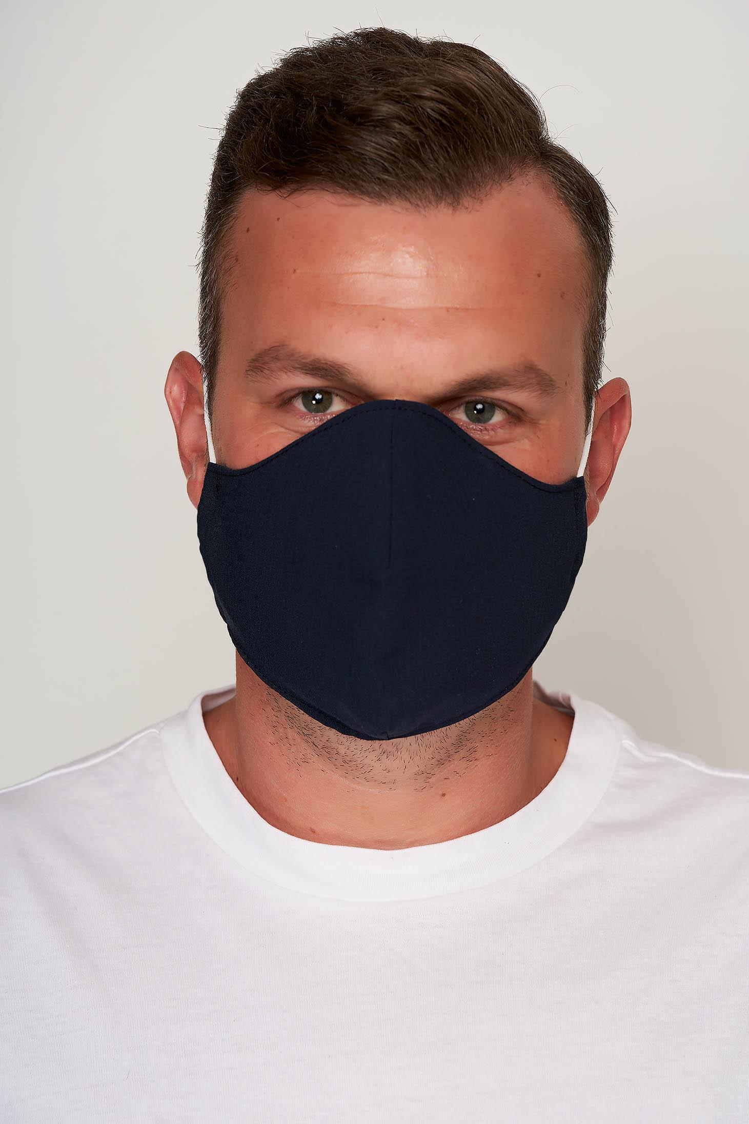 Masca textila pentru barbati StarShinerS albastru-inchis