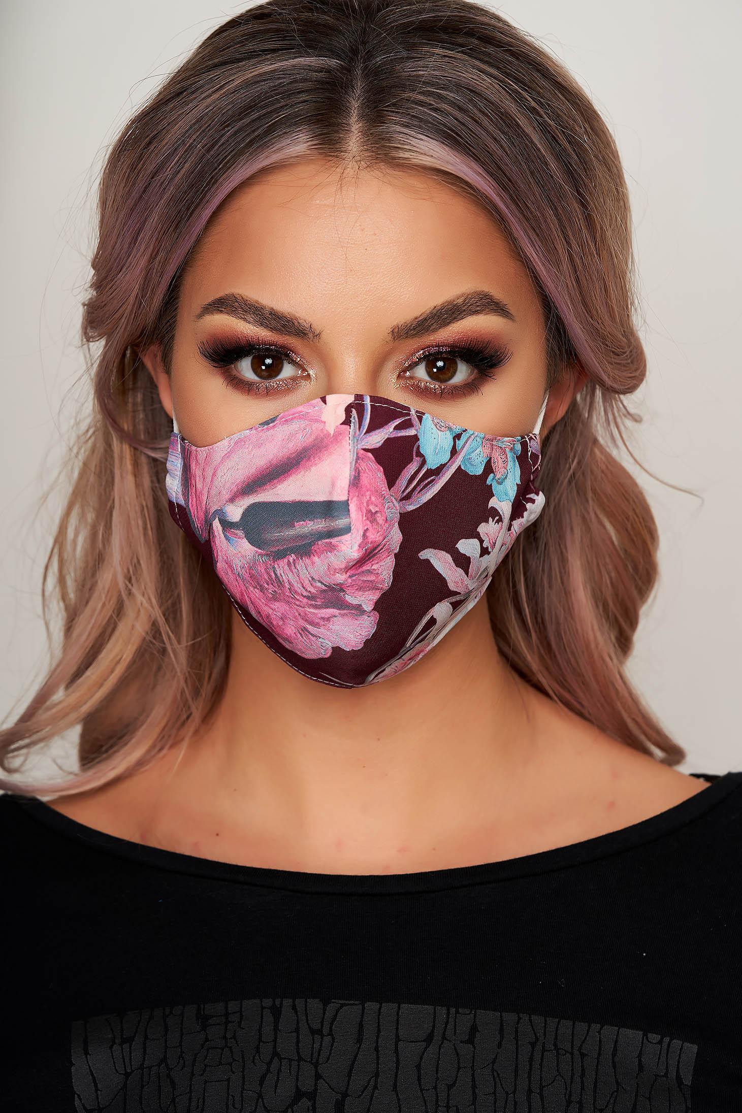 Masca textila pentru femei StarShinerS visinie