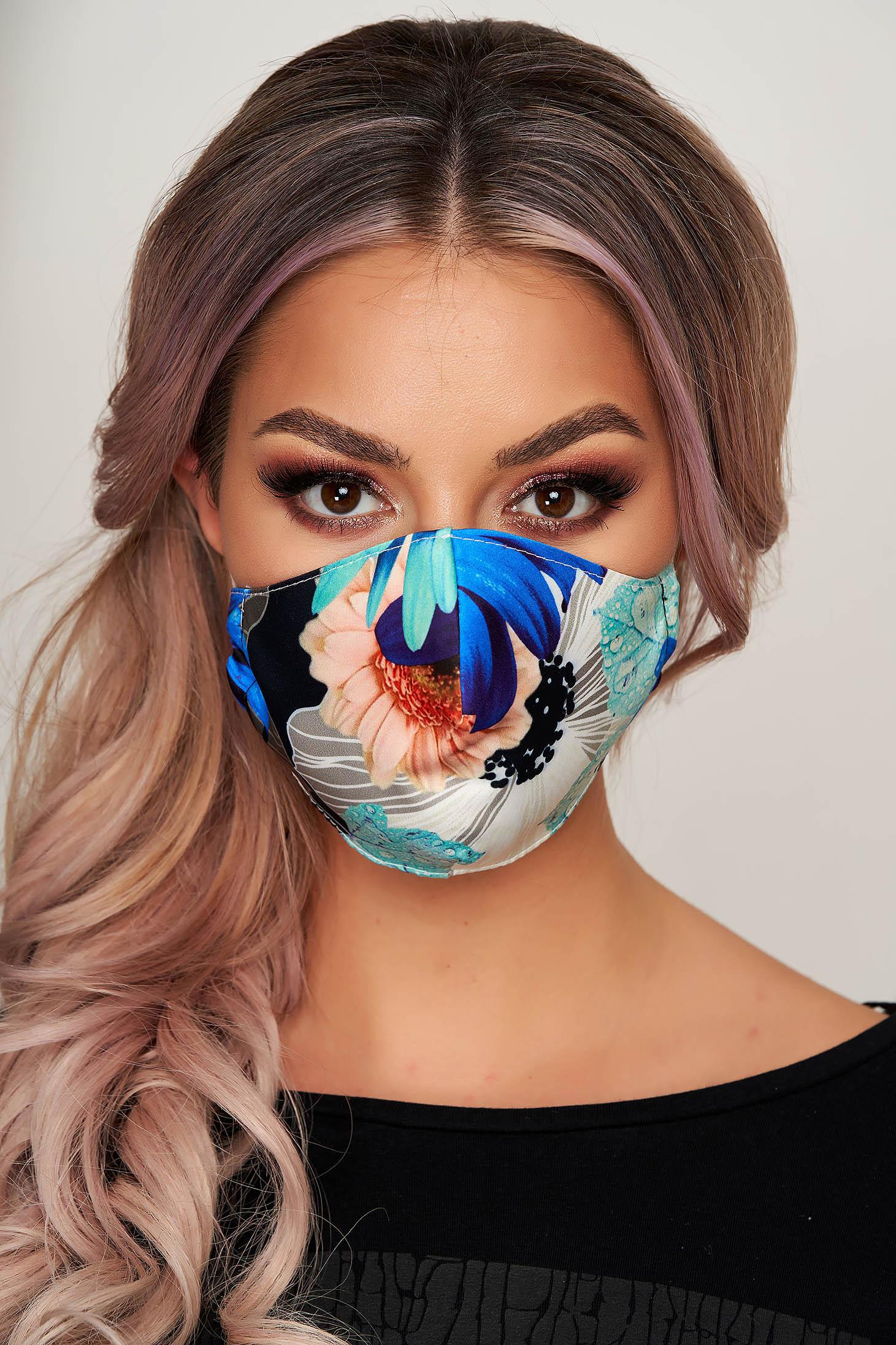 Masca textila pentru femei StarShinerS turcoaz