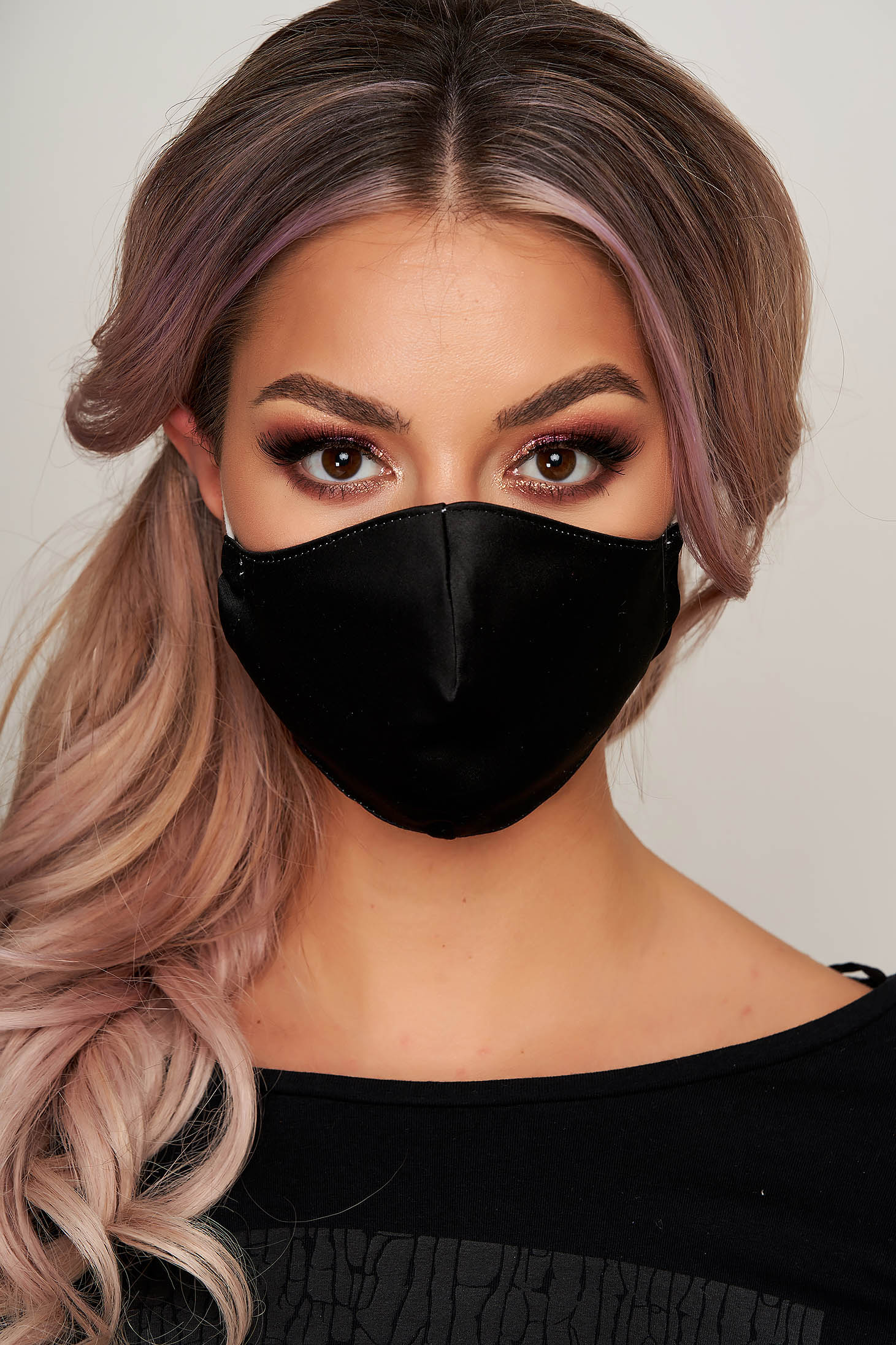 Masca textila pentru femei StarShinerS neagra
