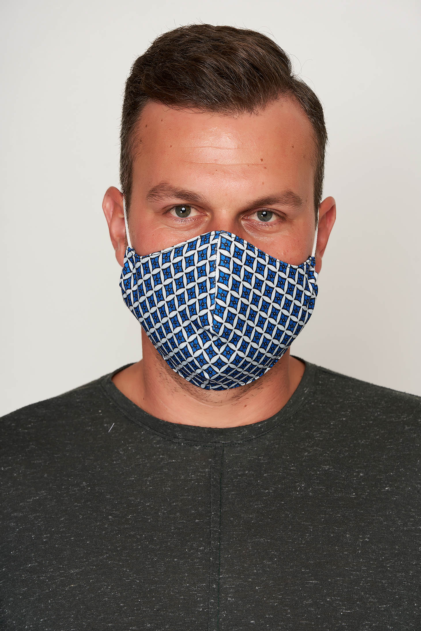 Masca textila pentru barbati StarShinerS albastru deschis