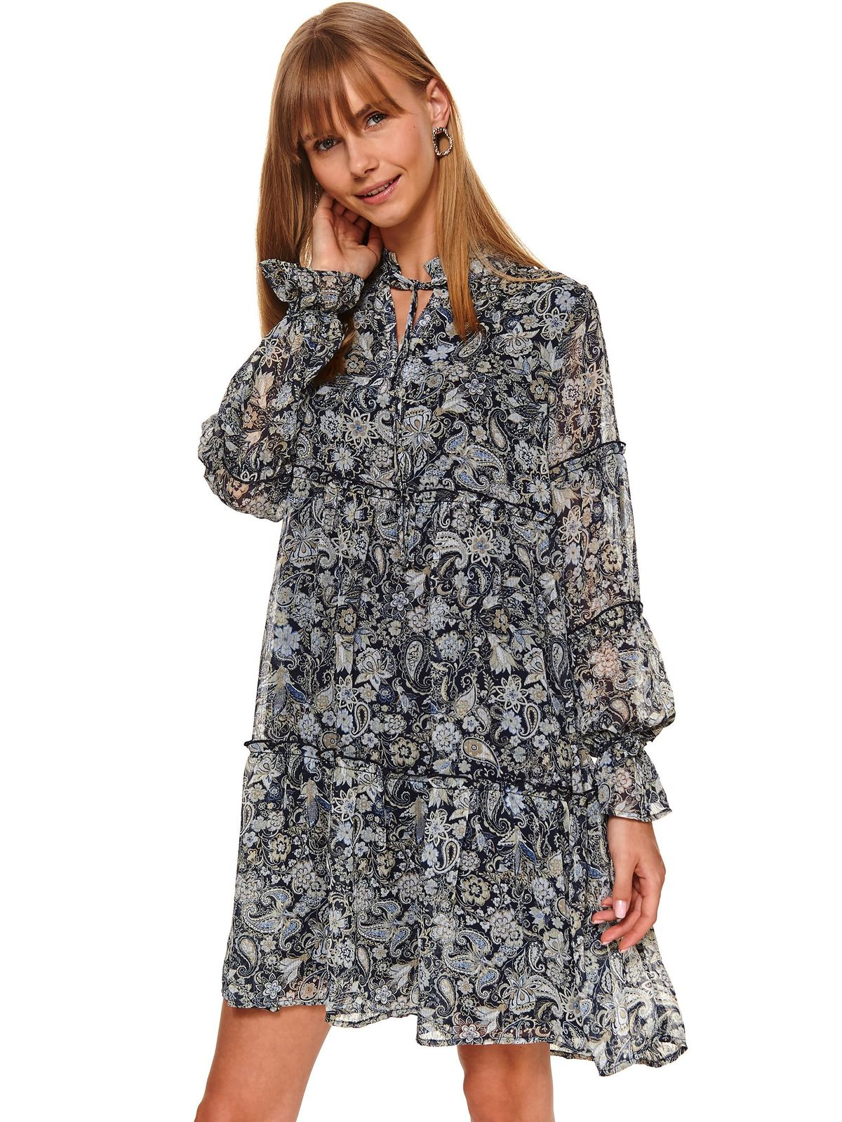 Darkblue dress short cut daily cloche from veil fabric