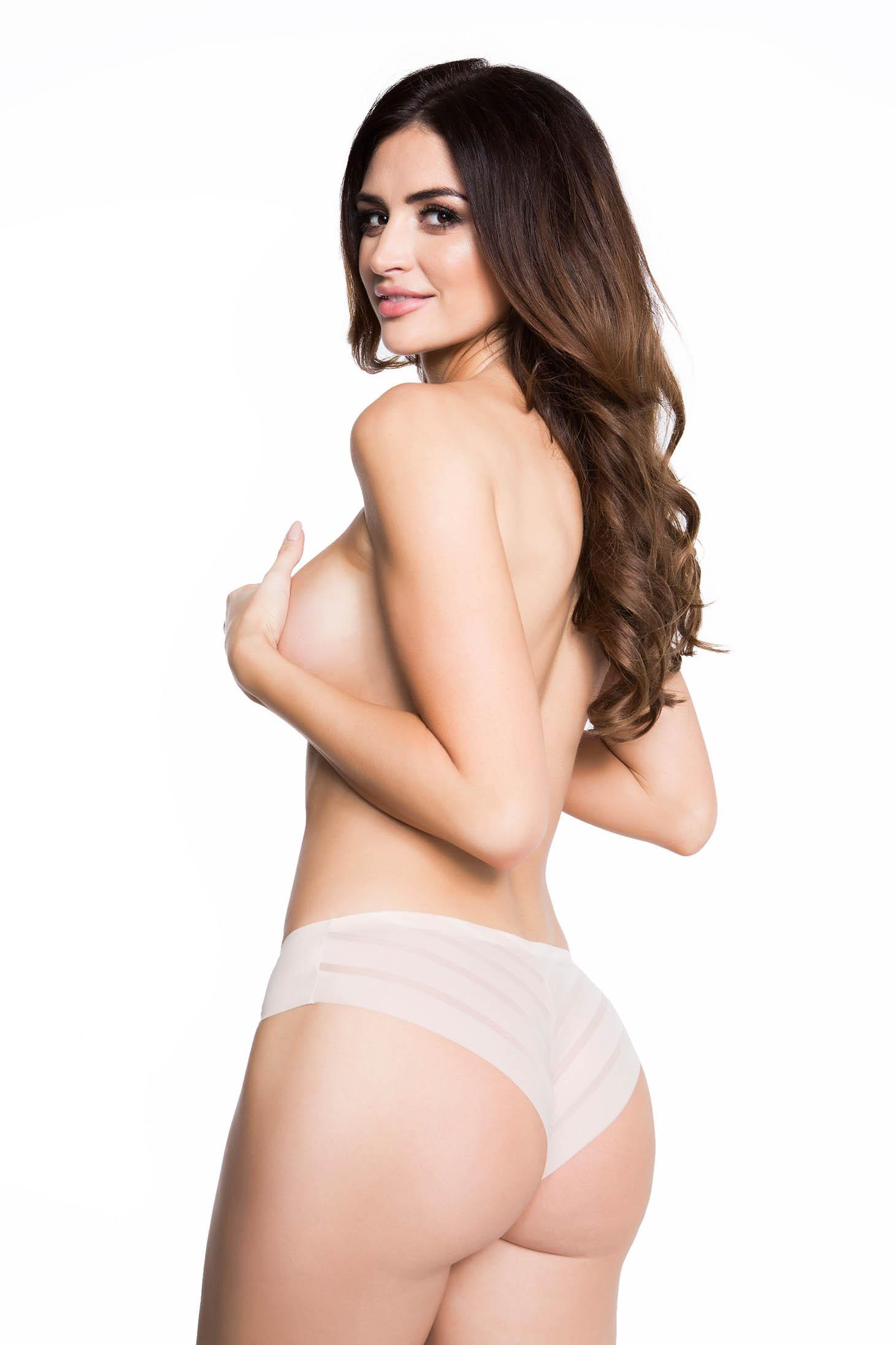 Cream panties brazilian bikinis polyamide