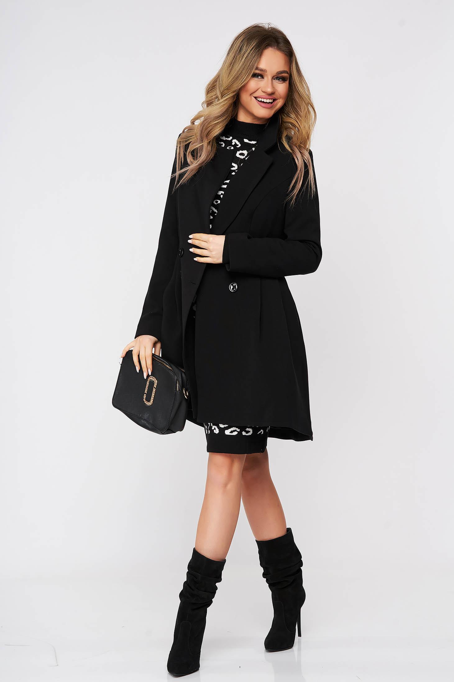 Kabát fekete szűkített béléssel enyhén rugalmas szövetből