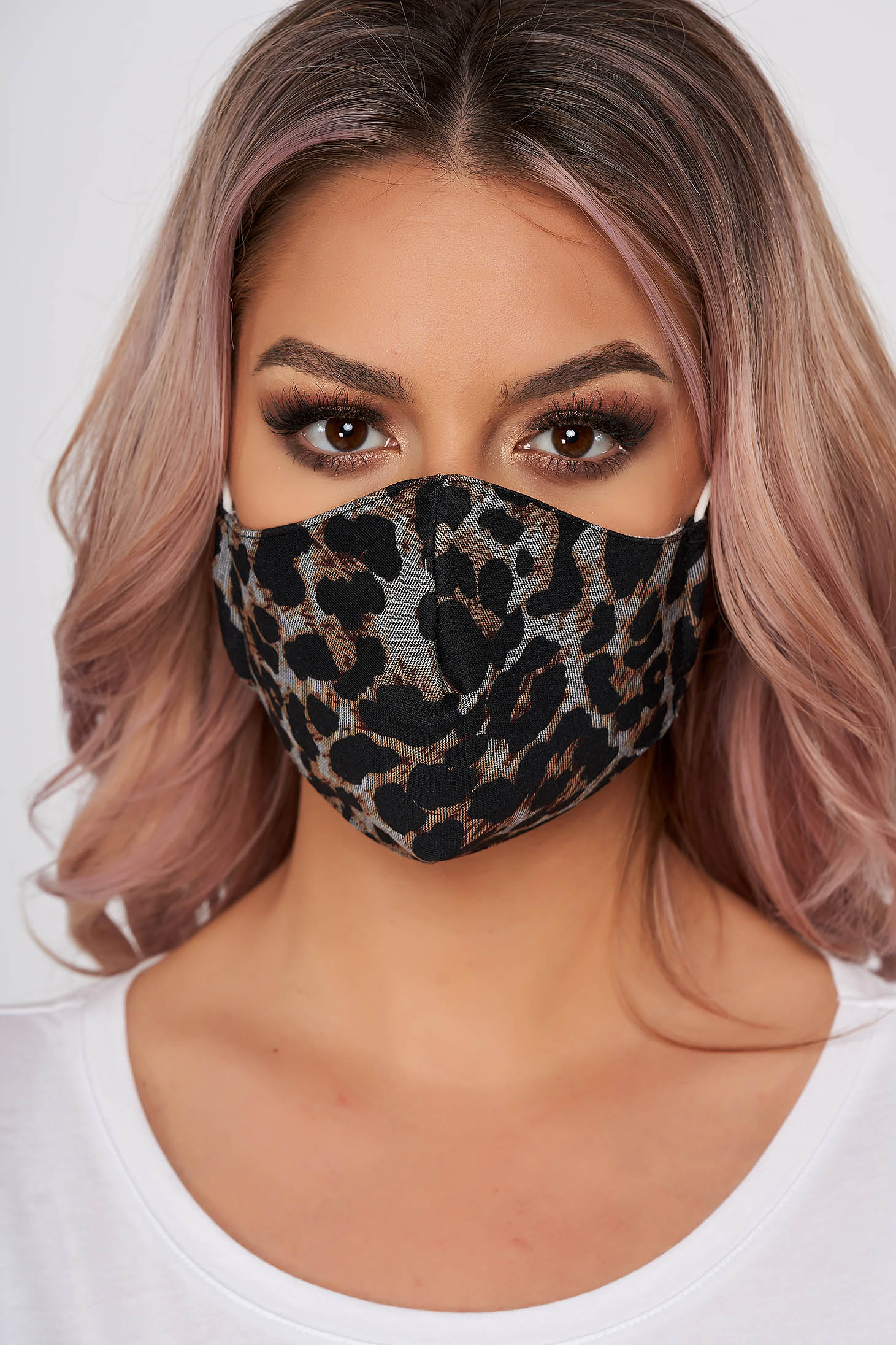 Masca textila pentru femei StarShinerS maro