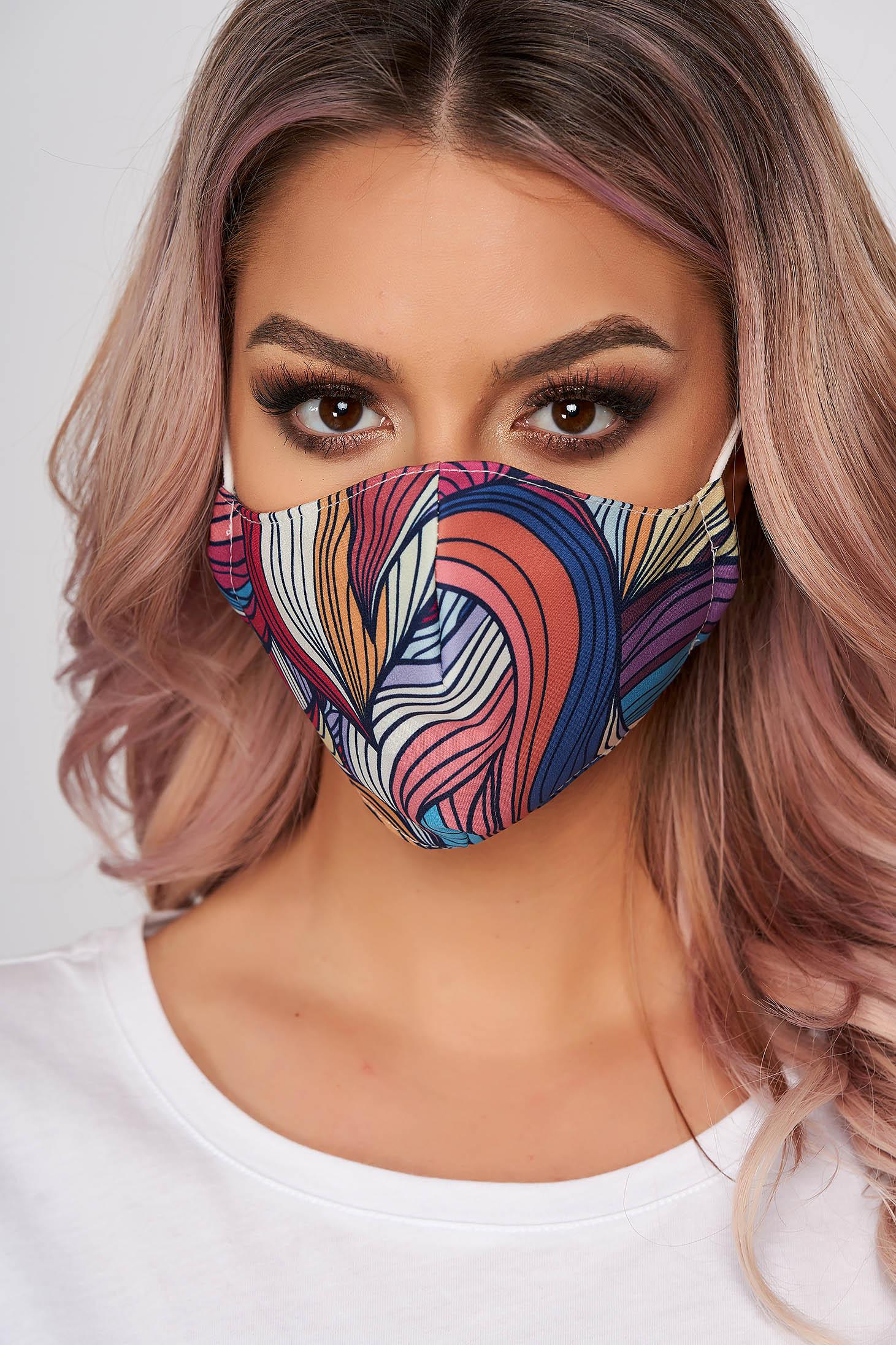 Masca textila pentru femei StarShinerS caramizie