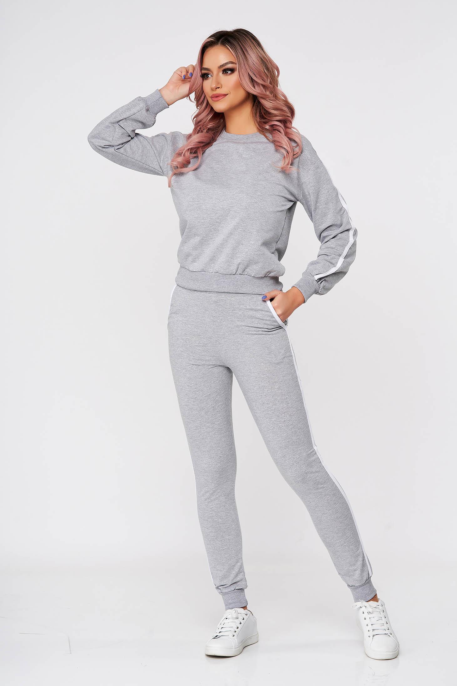 Grey sport 2 pieces 2 pieces cotton casual