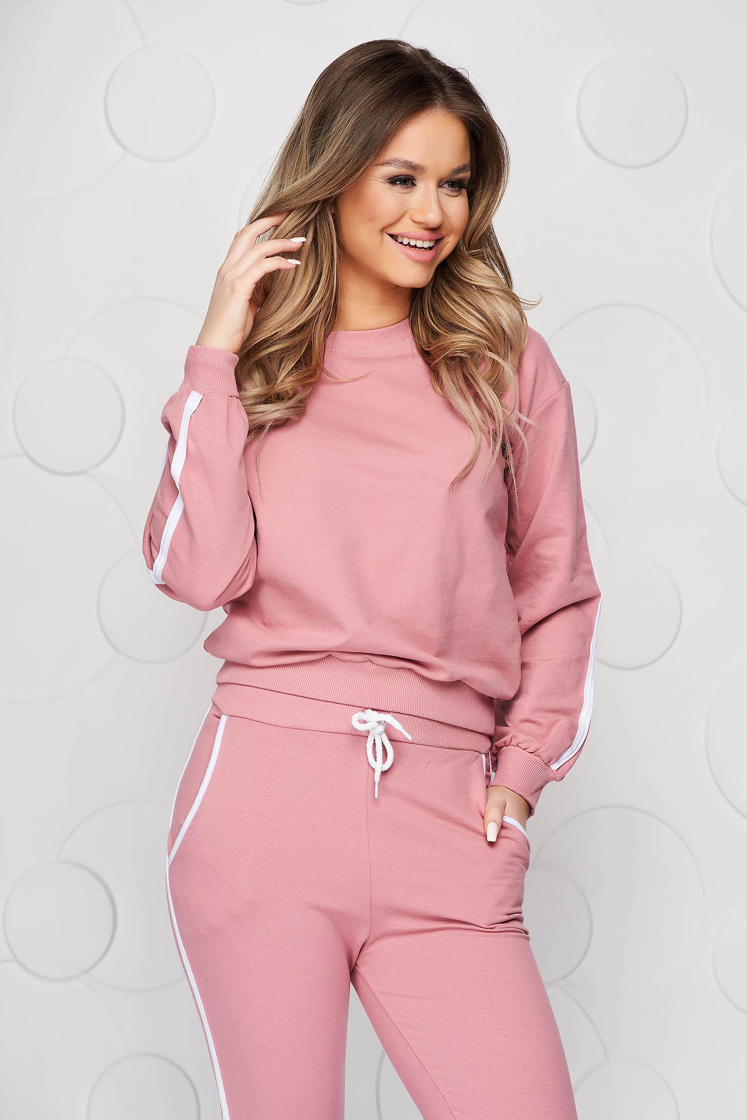 Pink sport 2 pieces 2 pieces cotton casual