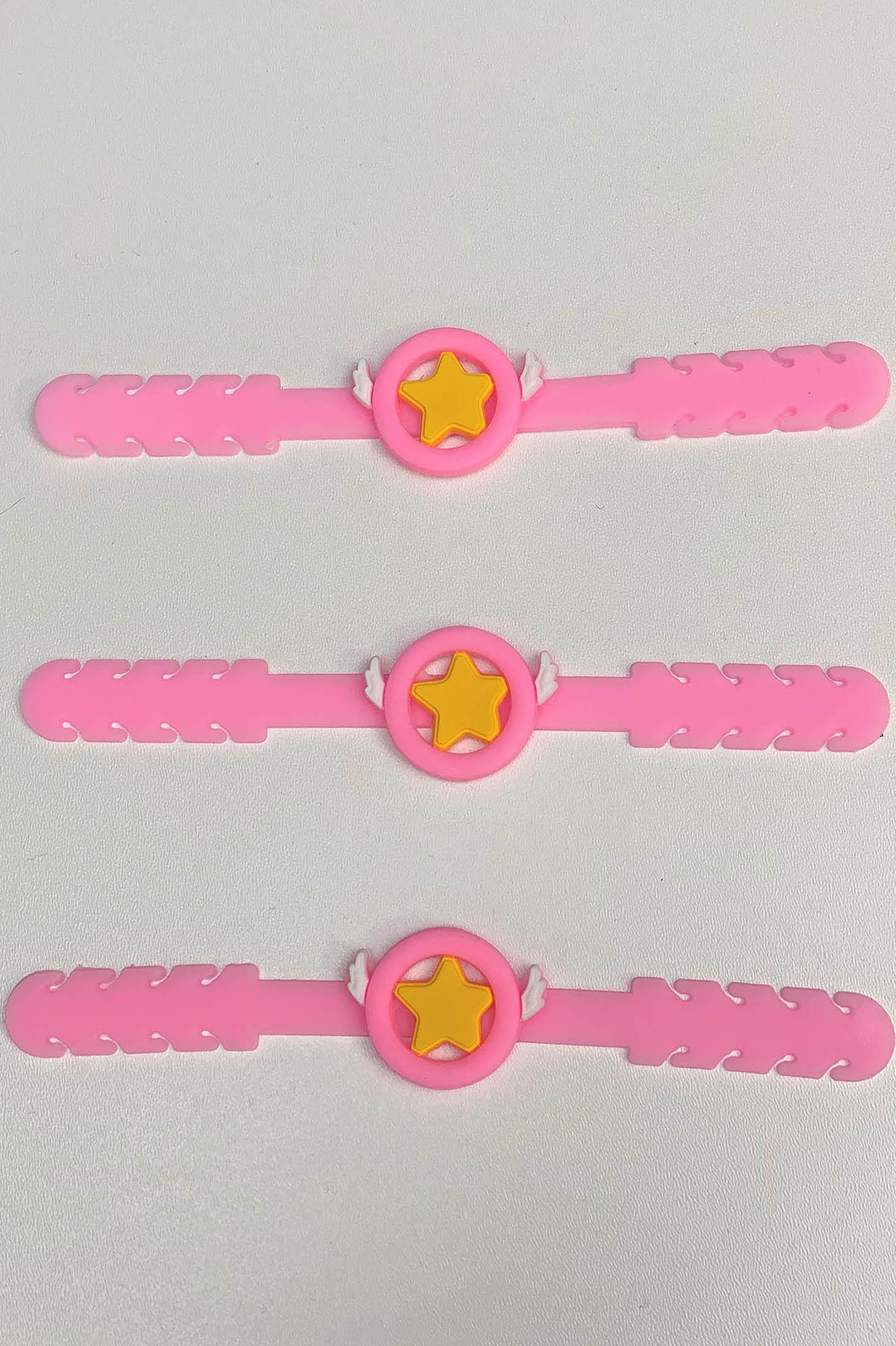 Set 3 buc Sistem Ajustare Masti De Protectie pentru copii StarShinerS Roz