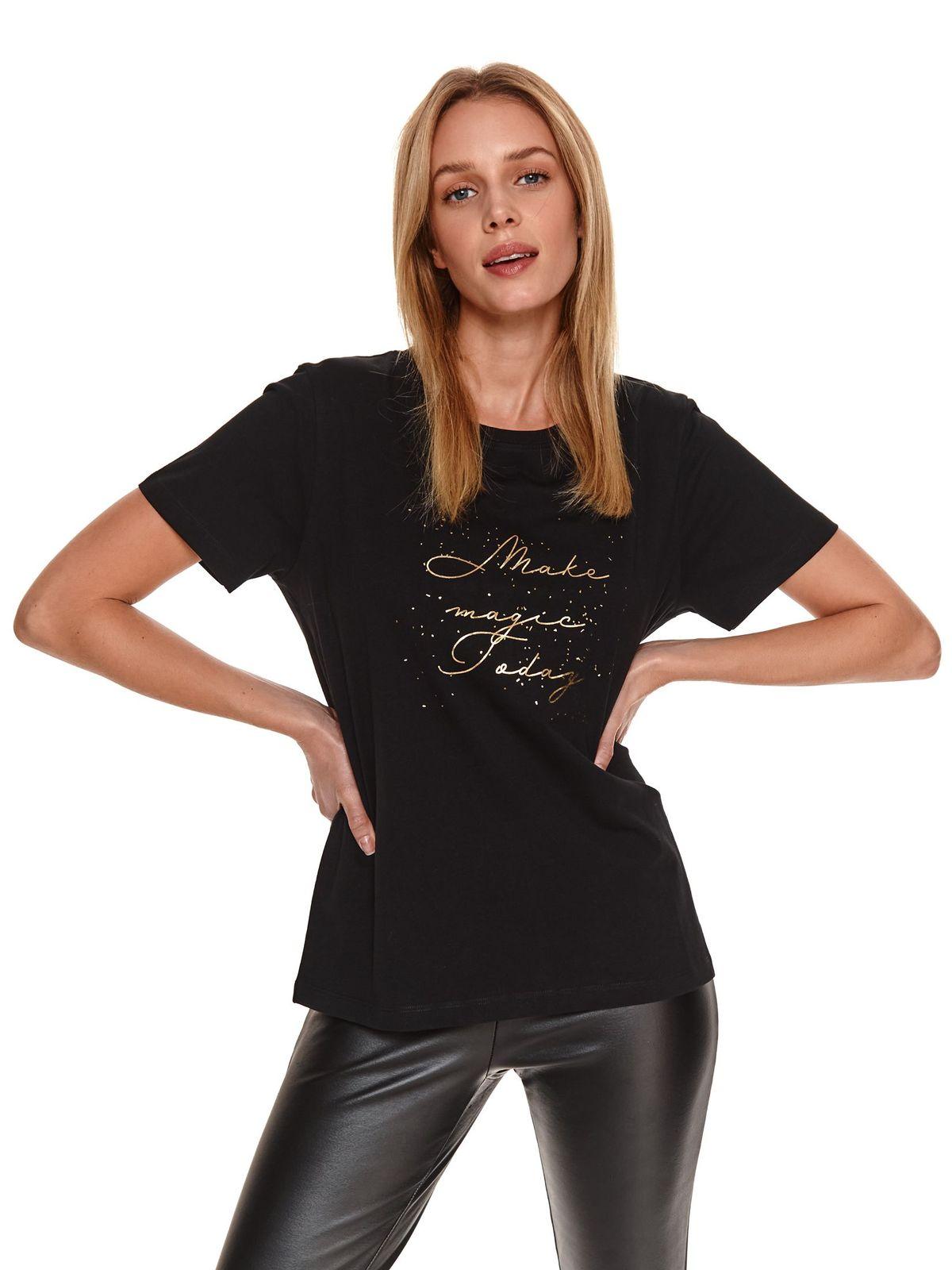 Bluza dama Top Secret neagra cu maneca scurta
