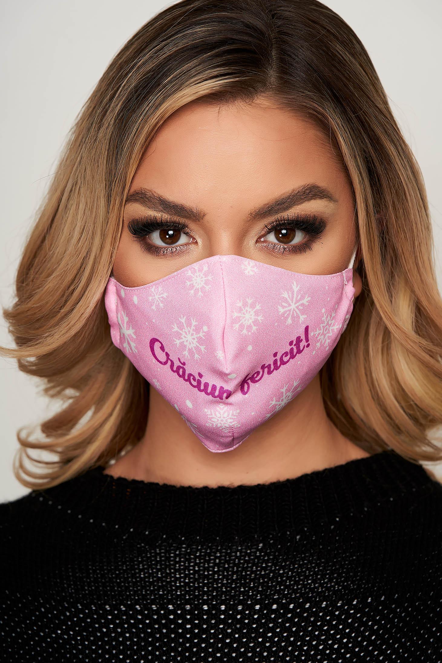Masca textila pentru femei StarShinerS roz deschis