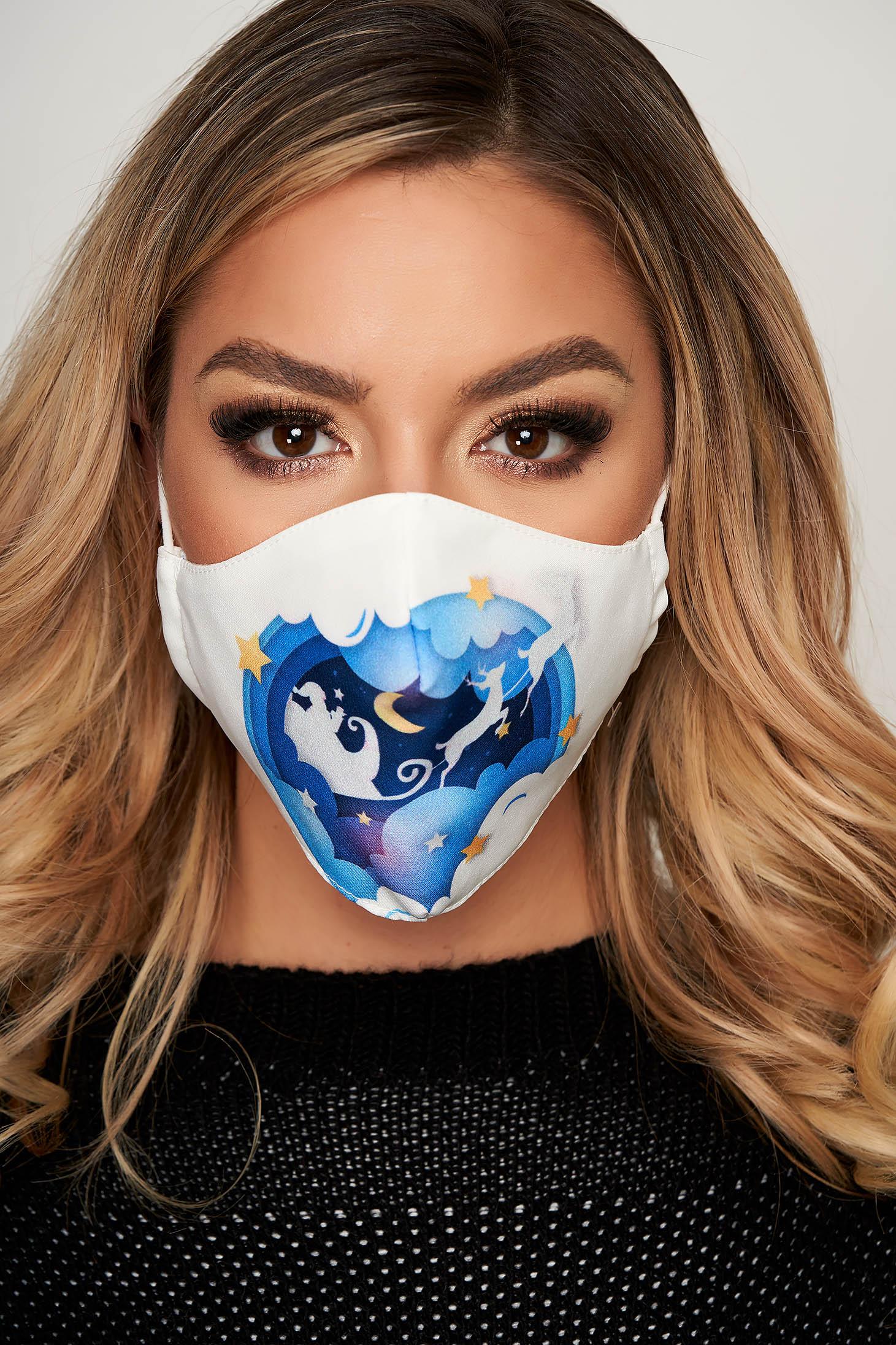 Masca textila pentru femei StarShinerS alba