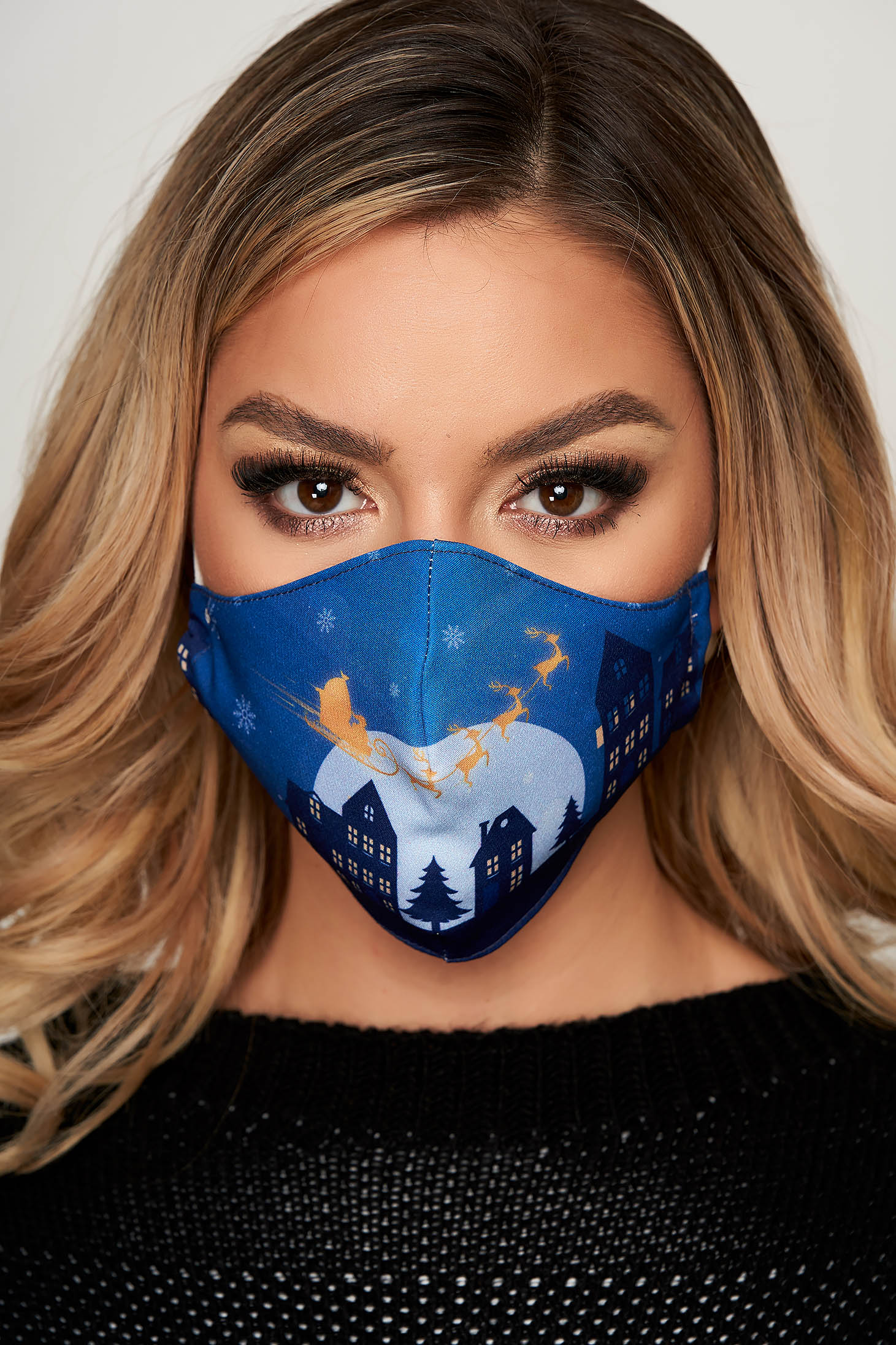 Masca textila pentru femei StarShinerS albastra