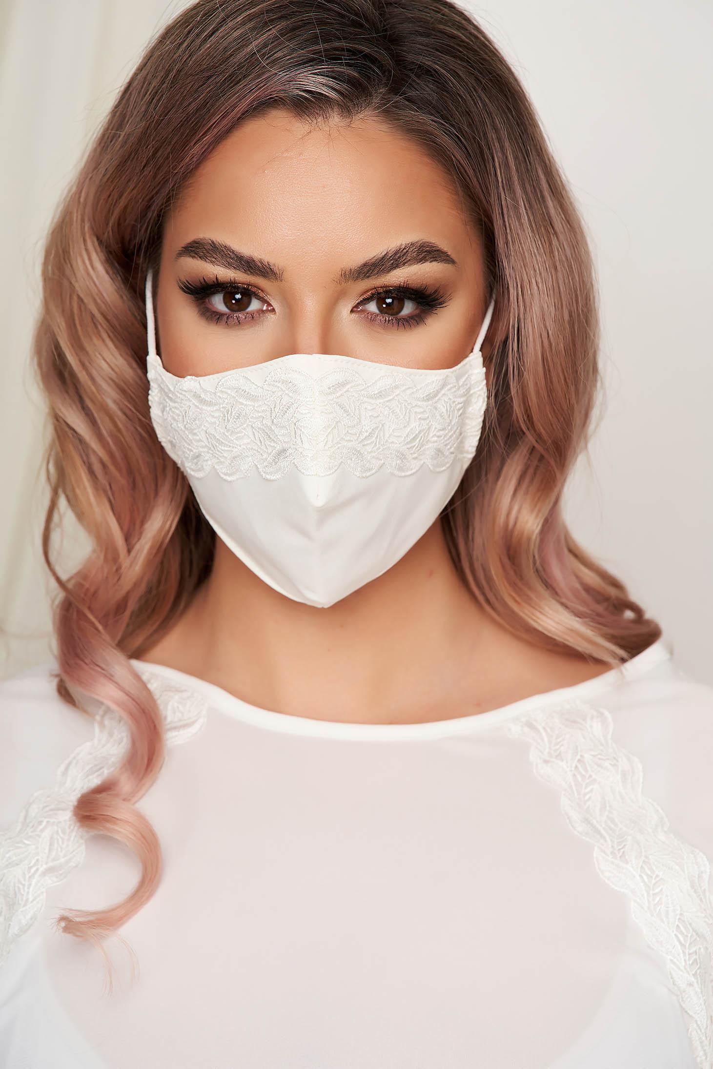 Masca textila pentru femei StarShinerS ivoire
