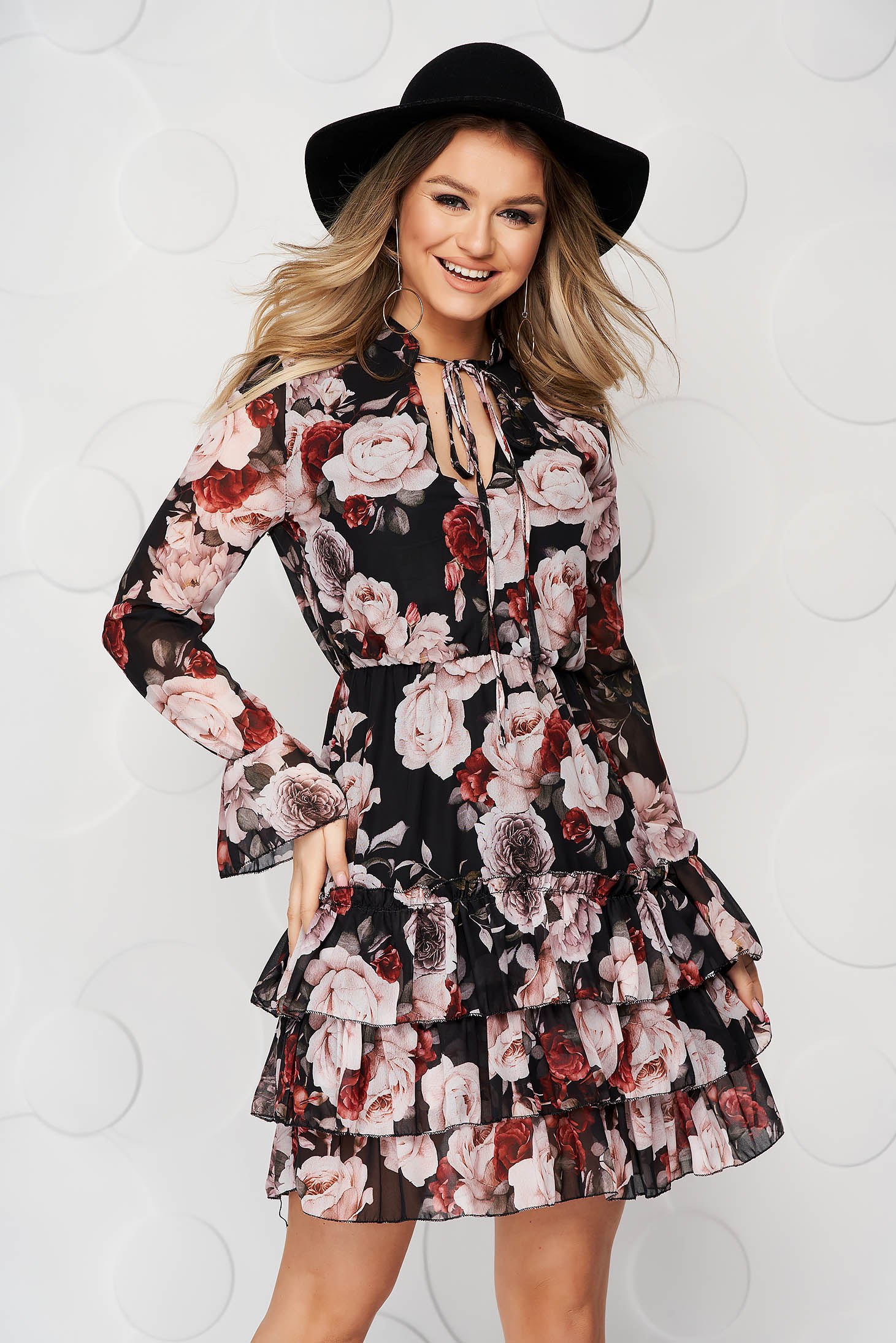 Dress from veil fabric