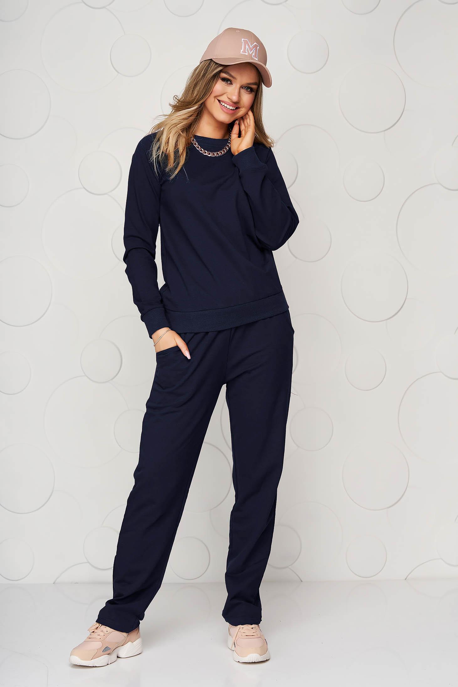 Darkblue sport 2 pieces cotton casual loose fit