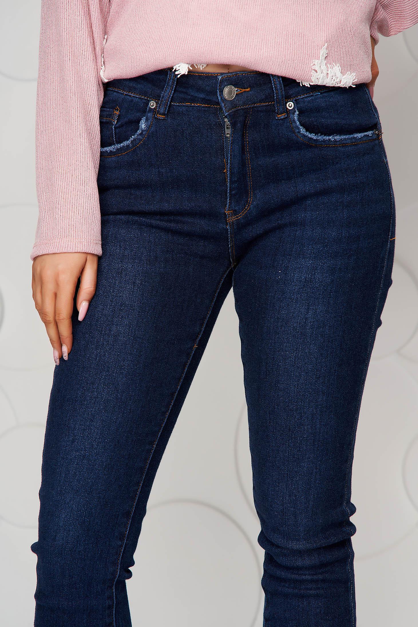 Blue jeans skinny jeans high waisted