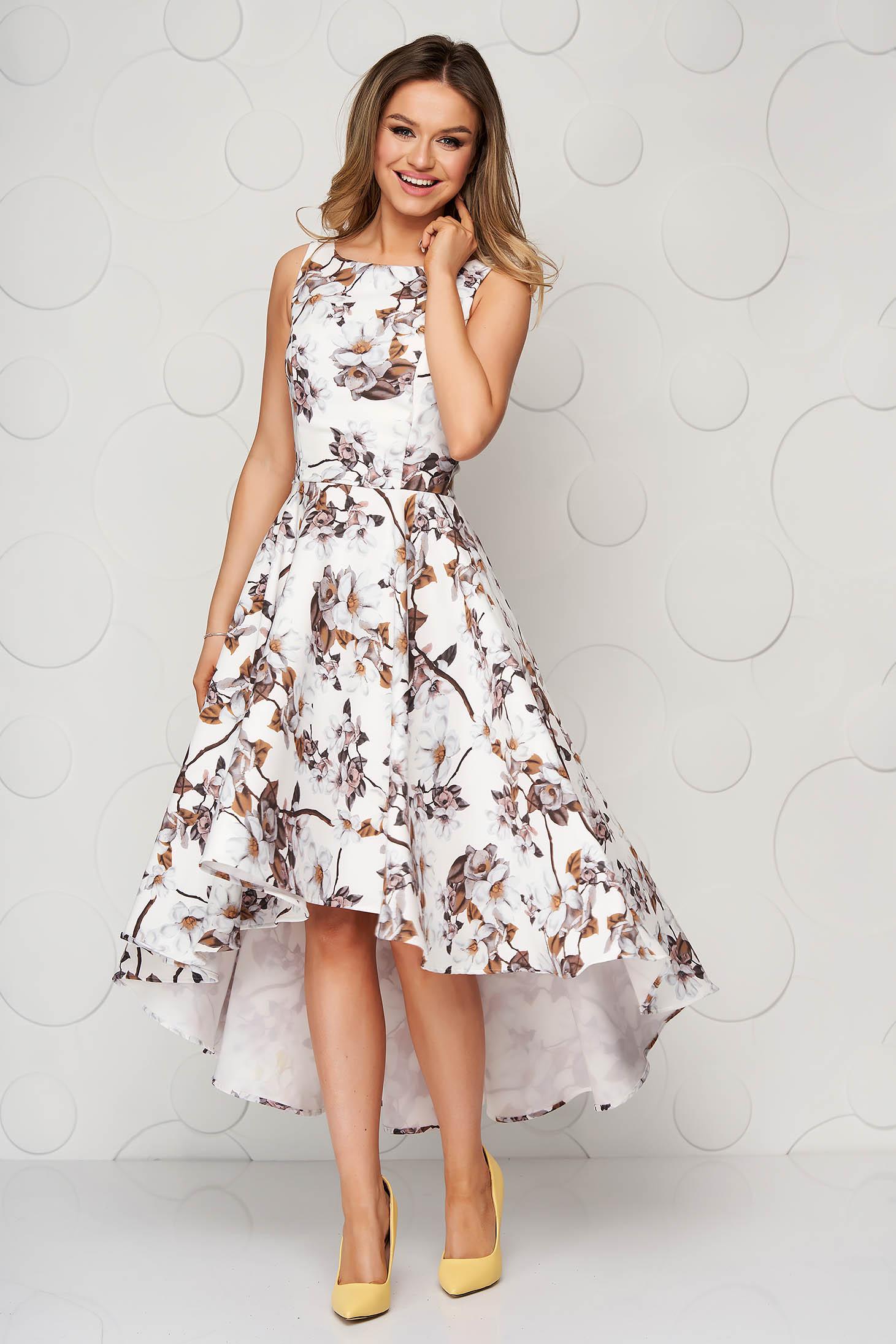 Dress StarShinerS ivory cloth elegant asymmetrical cloche from elastic fabric