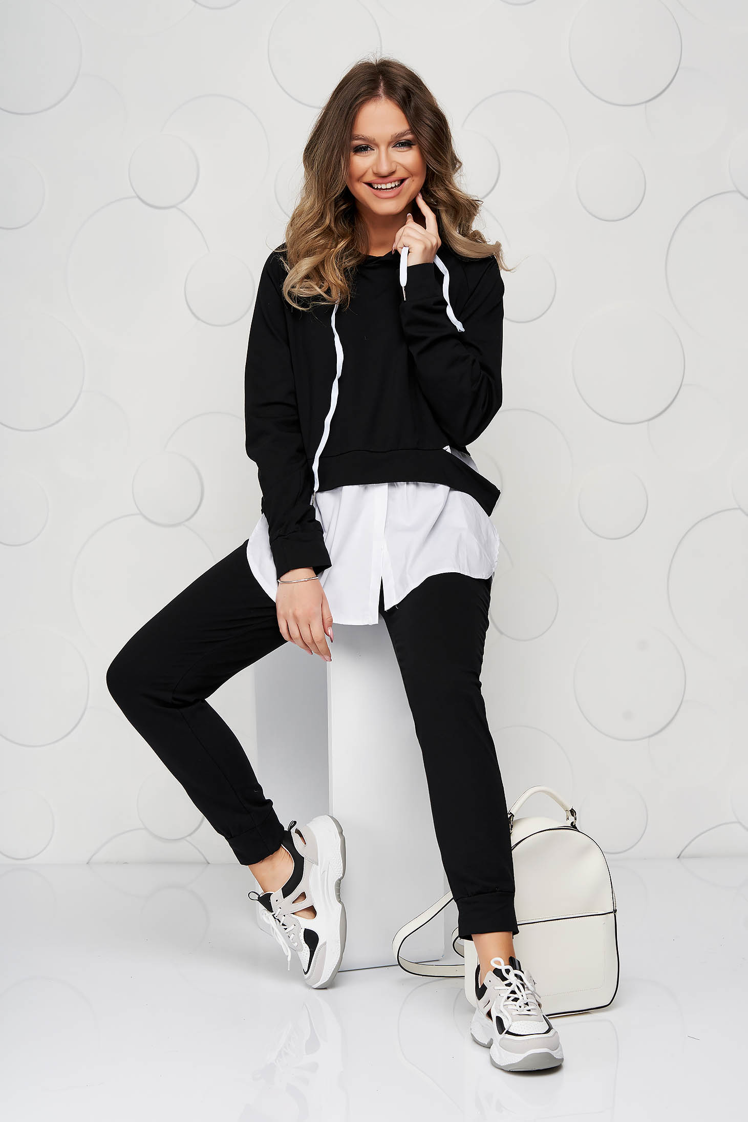 Black sport 2 pieces cotton loose fit