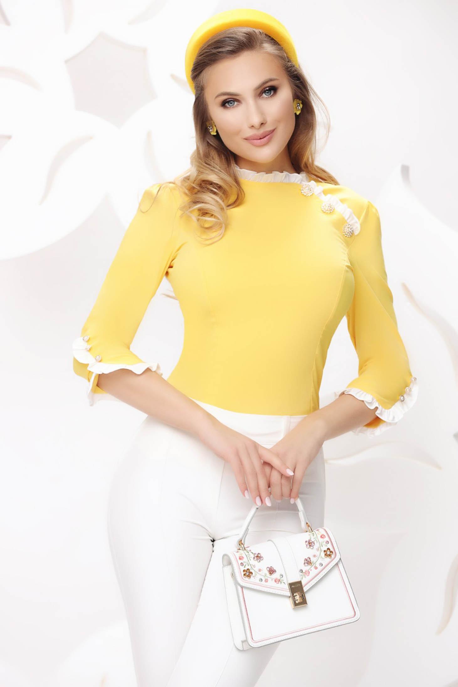 Yellow women`s shirt