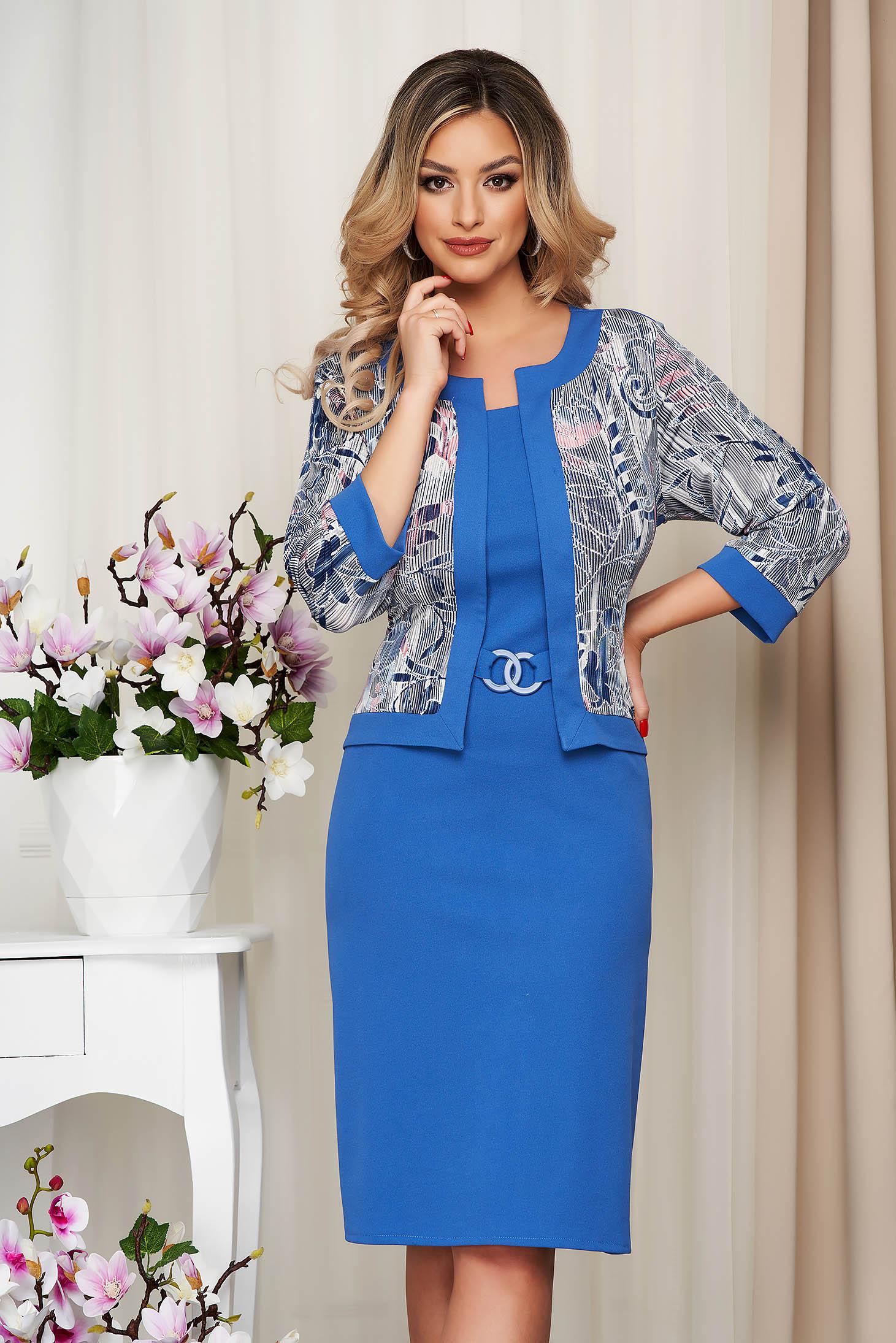 Kék ruha ceruza enyhén rugalmas anyagból