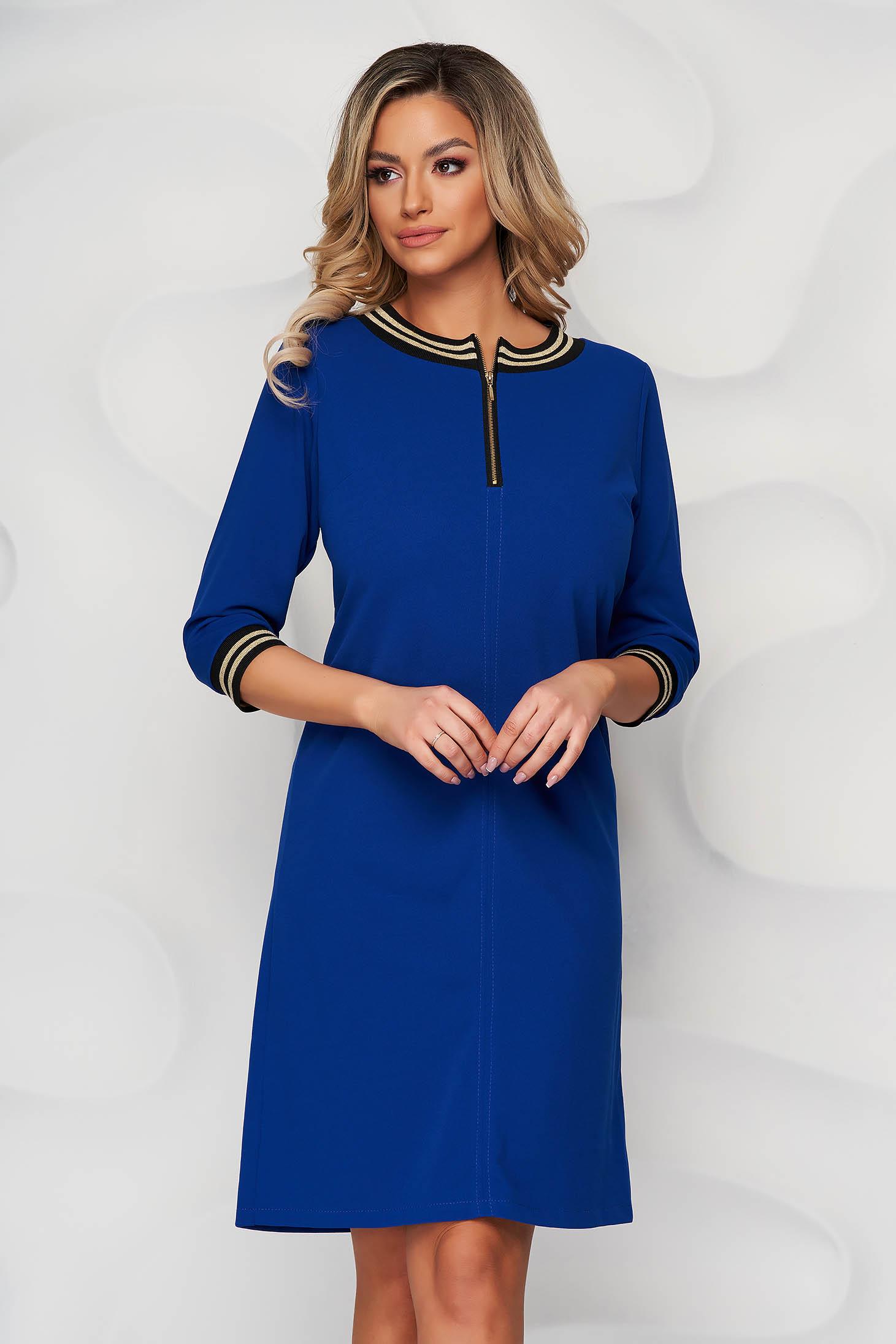 StarShinerS blue dress a-line cloth zipper accessory short cut elegant