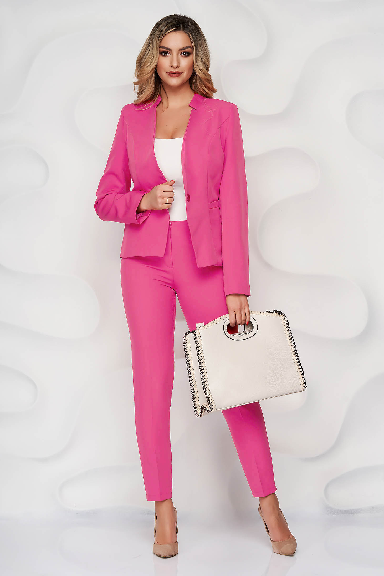 Set roz office din material neelastic