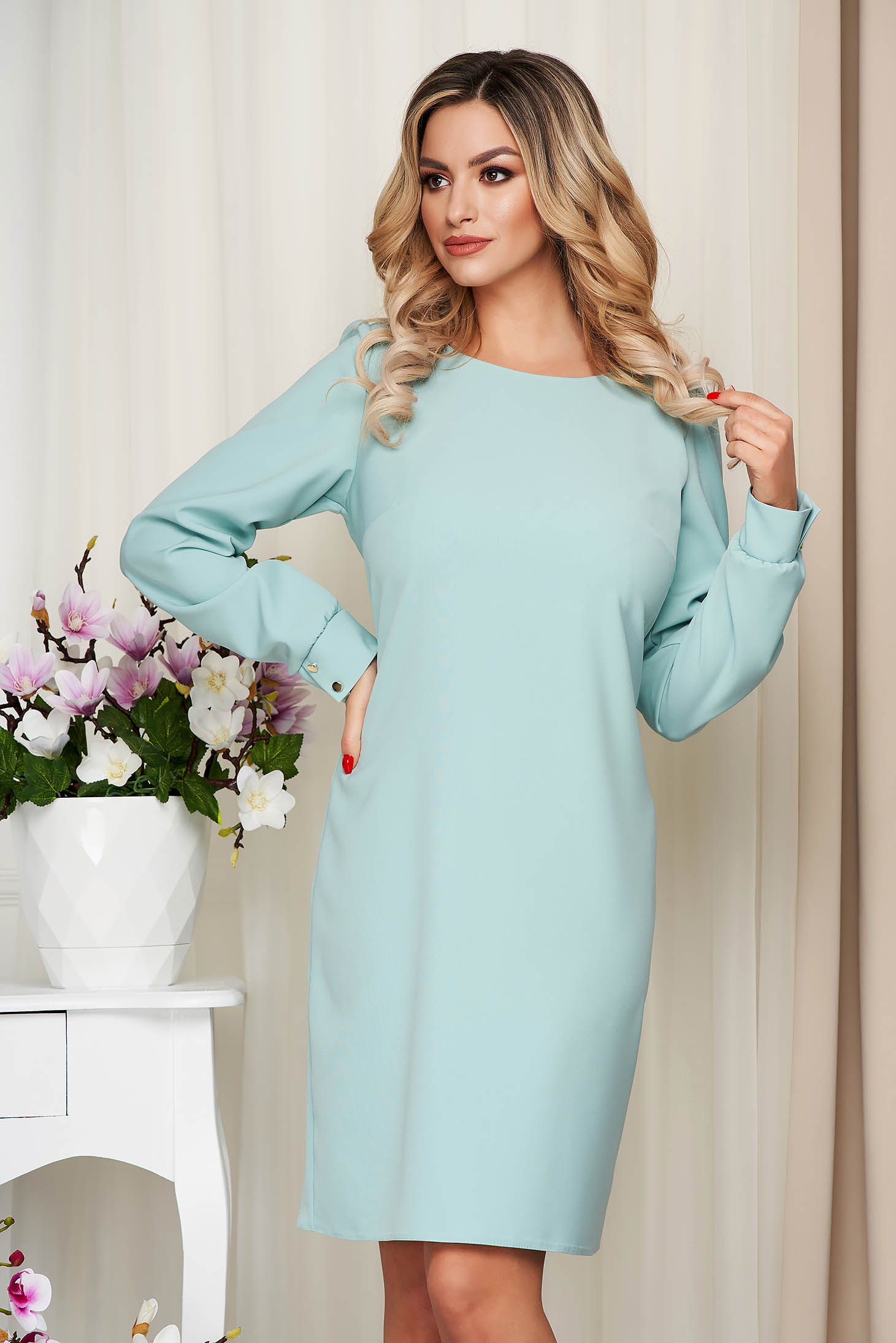 Dress StarShinerS mint office midi cloth straight