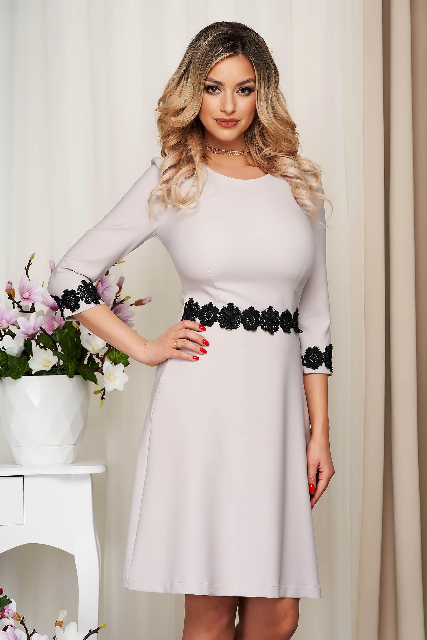 StarShinerS grey midi cloche elegant cloth from elastic fabric dress