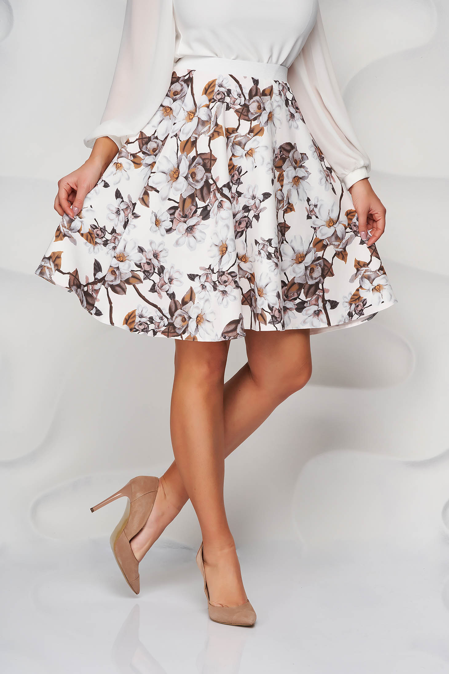 StarShinerS cappuccino skirt cloche with elastic waist