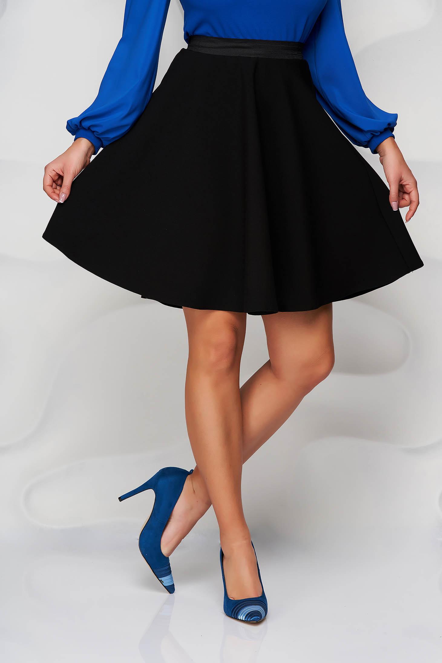 StarShinerS black skirt cloche with elastic waist