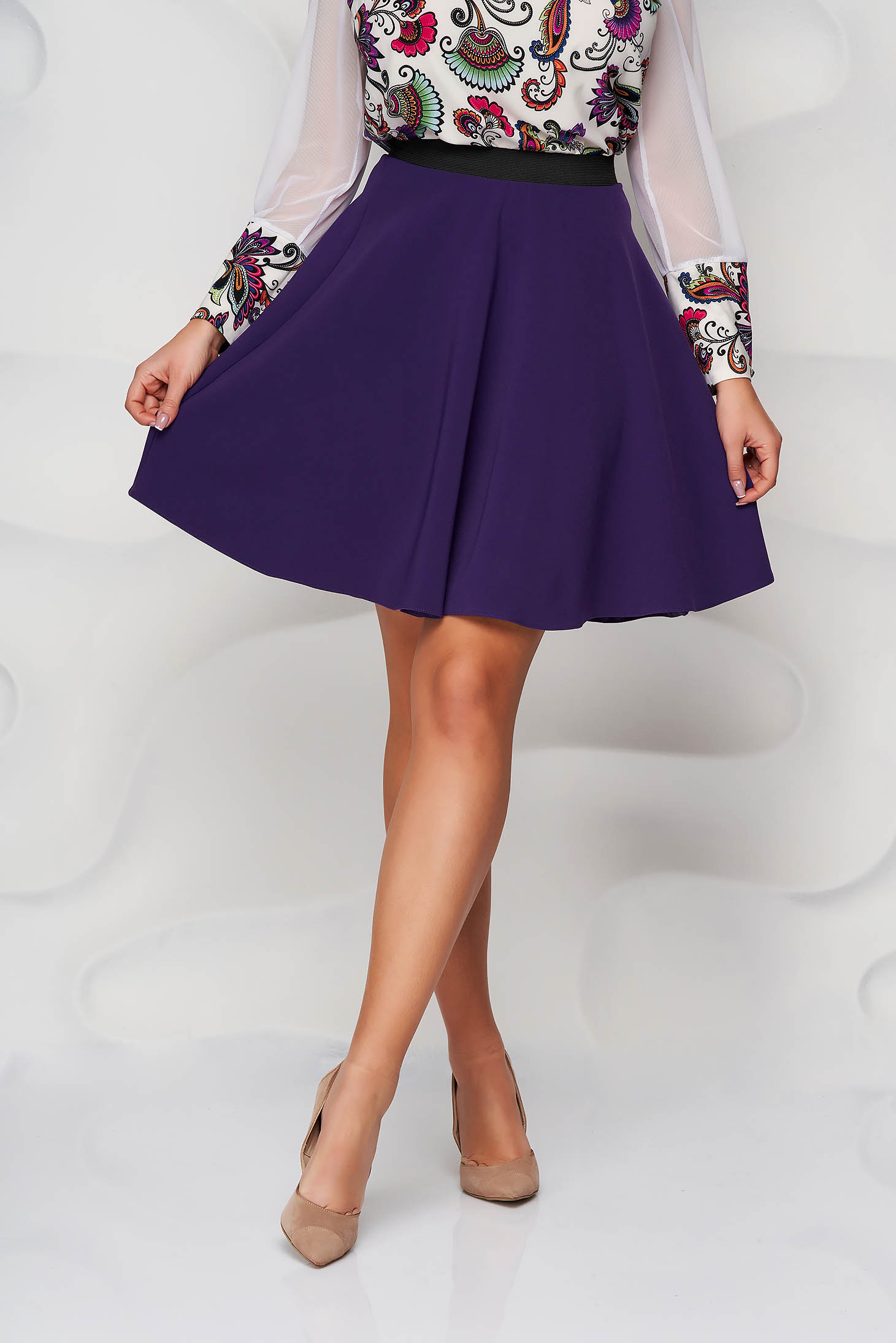 StarShinerS purple skirt cloche with elastic waist