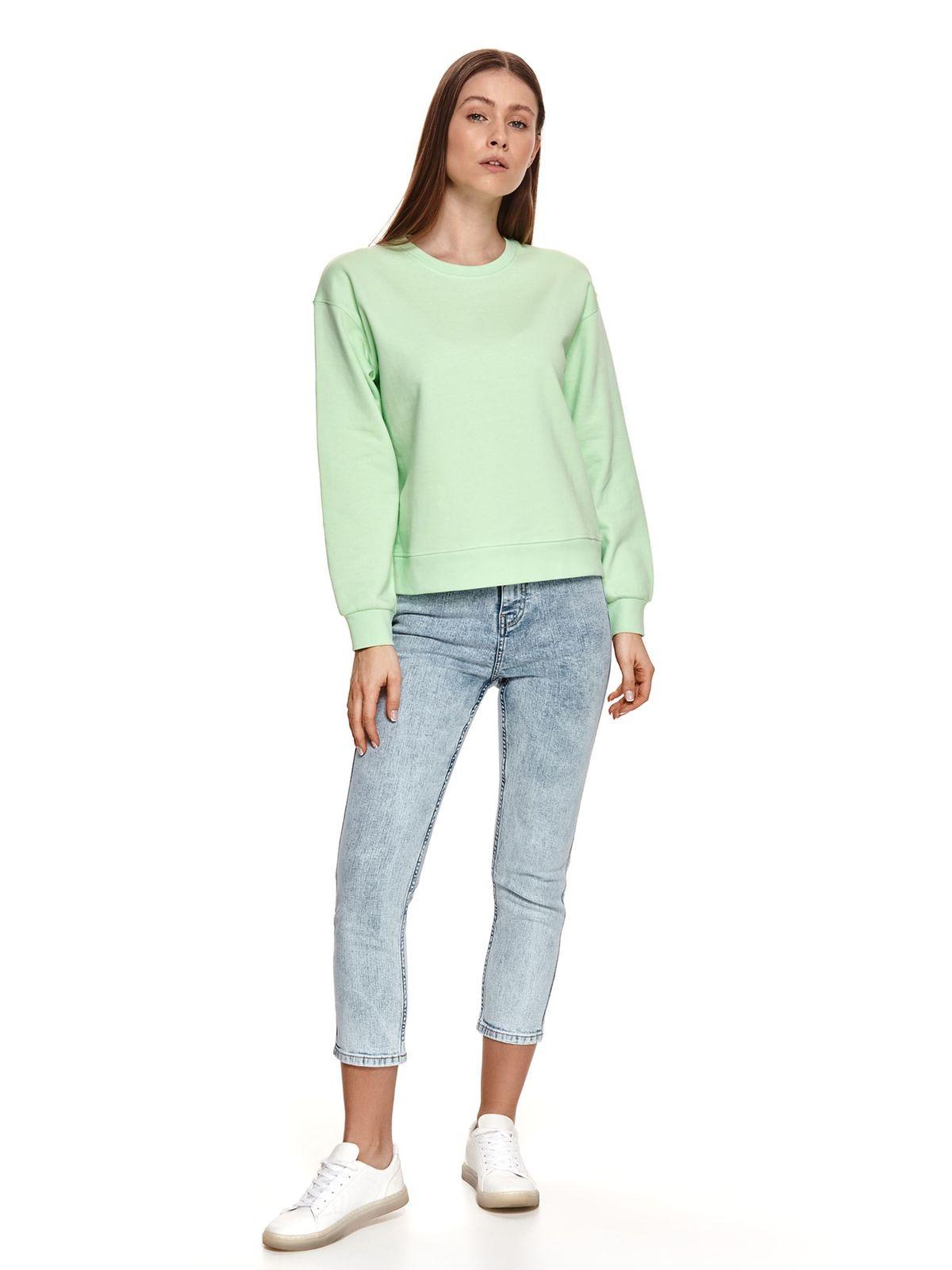 Bluza dama Top Secret verde-deschis cu croi larg si decolteu rotunjit