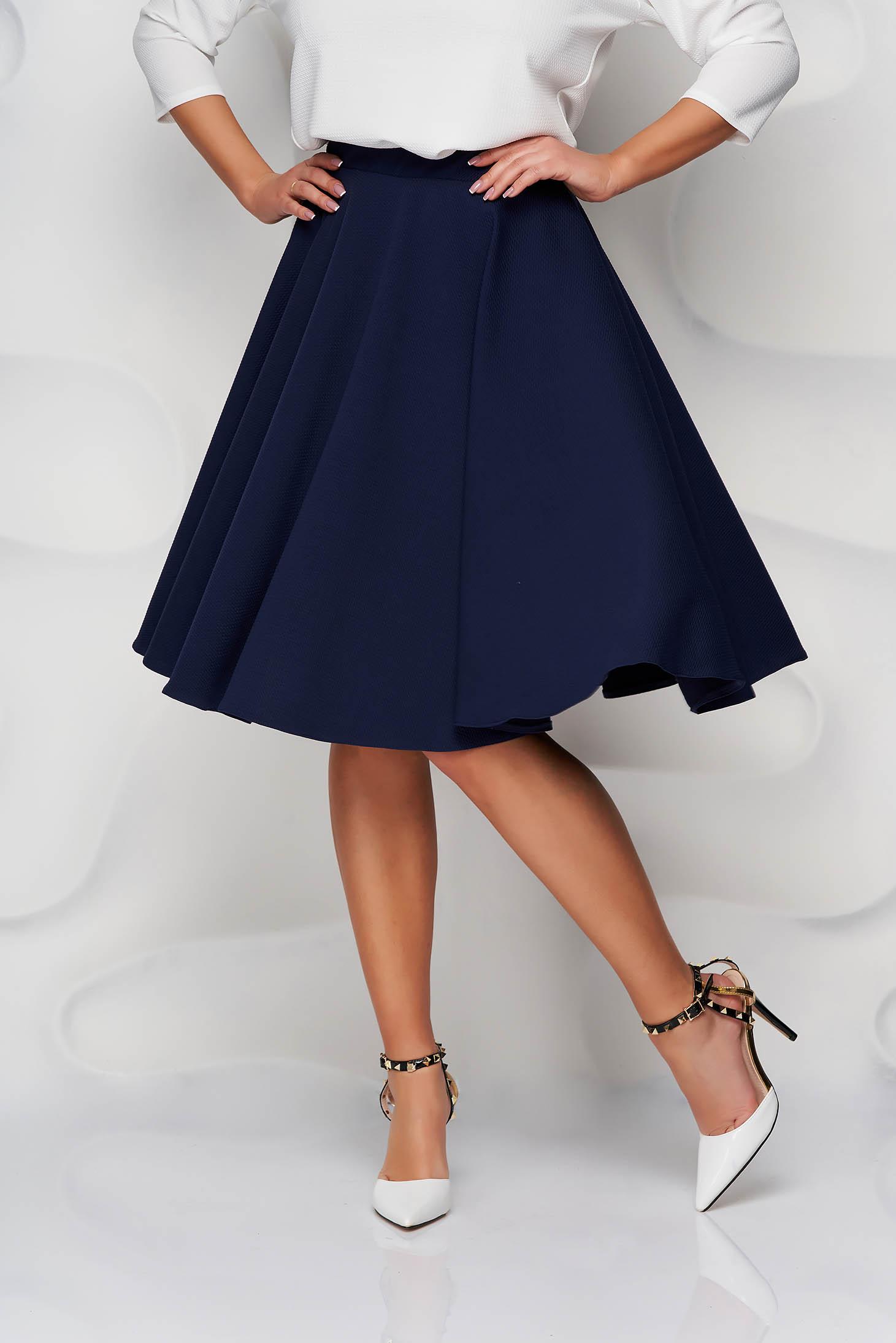 StarShinerS darkblue skirt cloche high waisted from elastic fabric