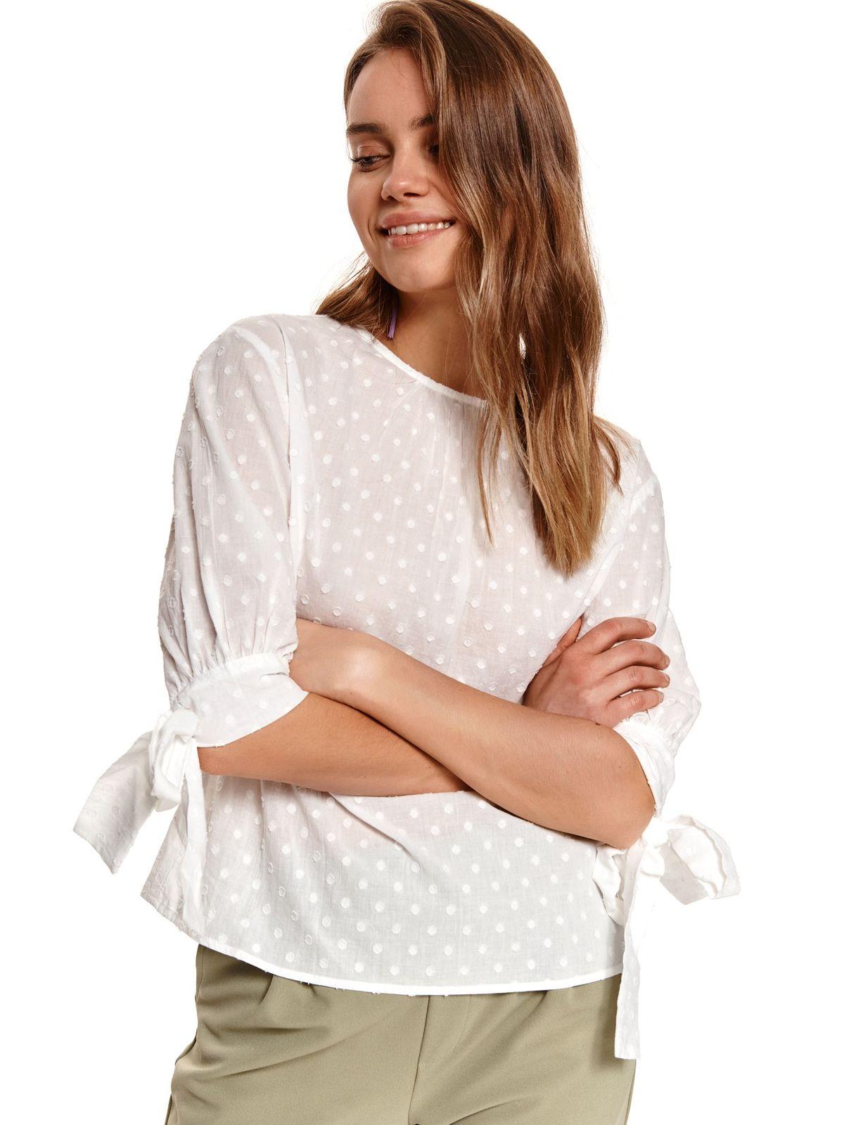 Ivory women`s blouse plumeti cotton loose fit