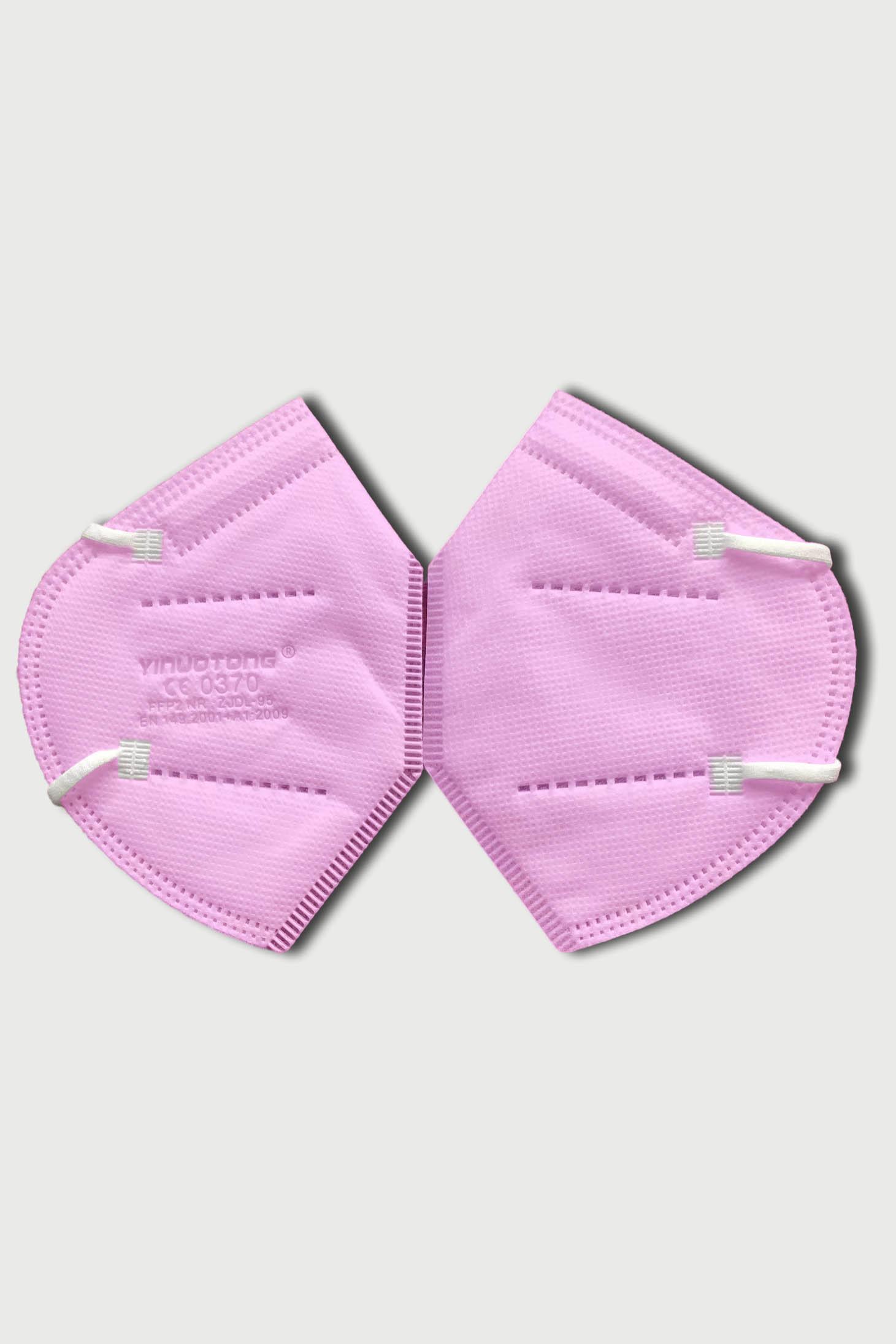 Masca de protectie roz cu filtru FFP2 reutilizabila cu certificat CE